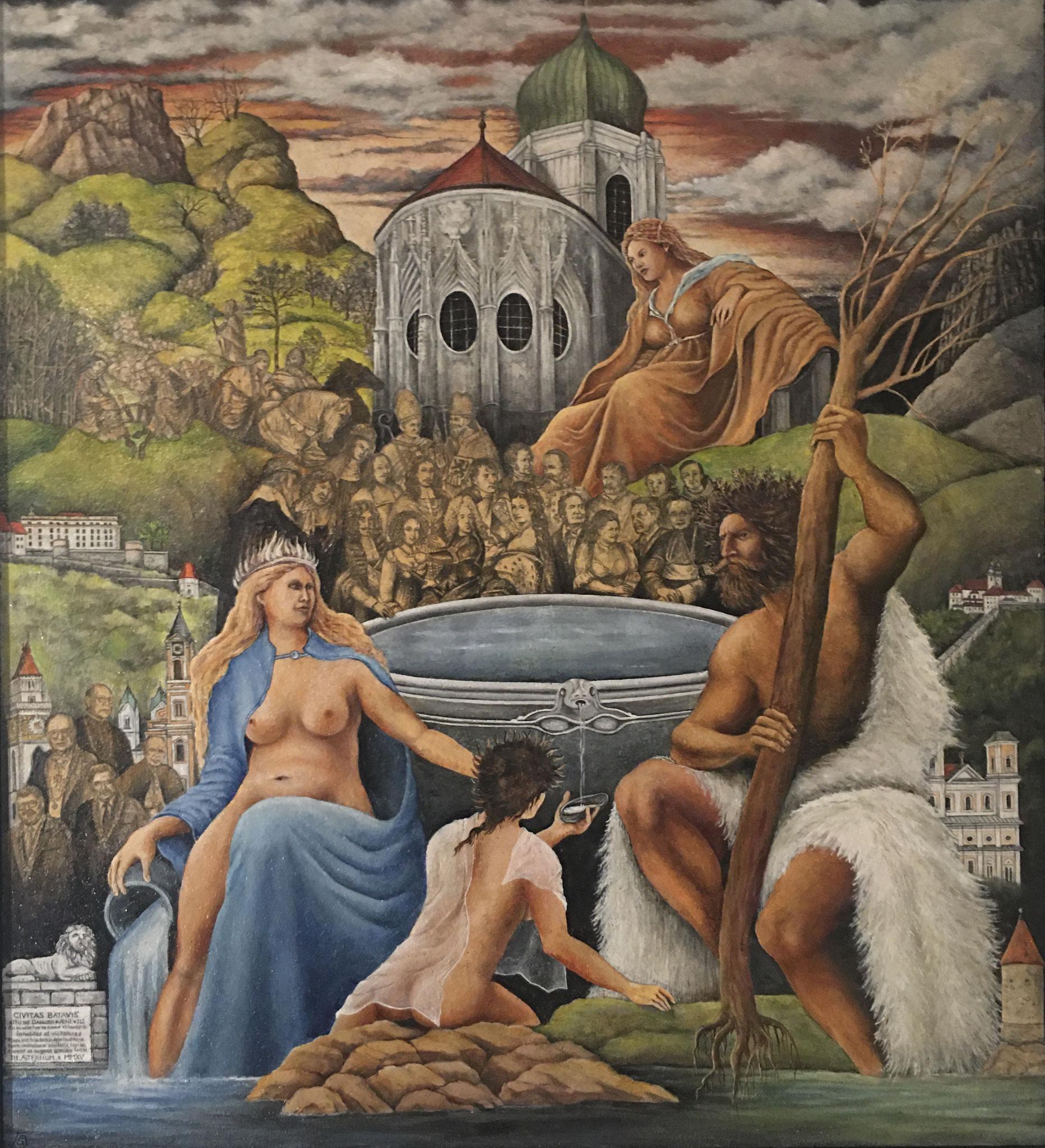 Civitas Batavis, Mischtechnik, 120 x 100 cm, 2018