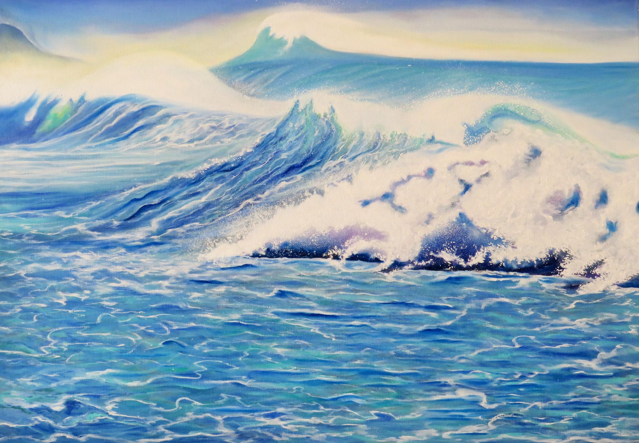 Atlantischer Ocean, Oilpainting, 60x100 cm, 2018