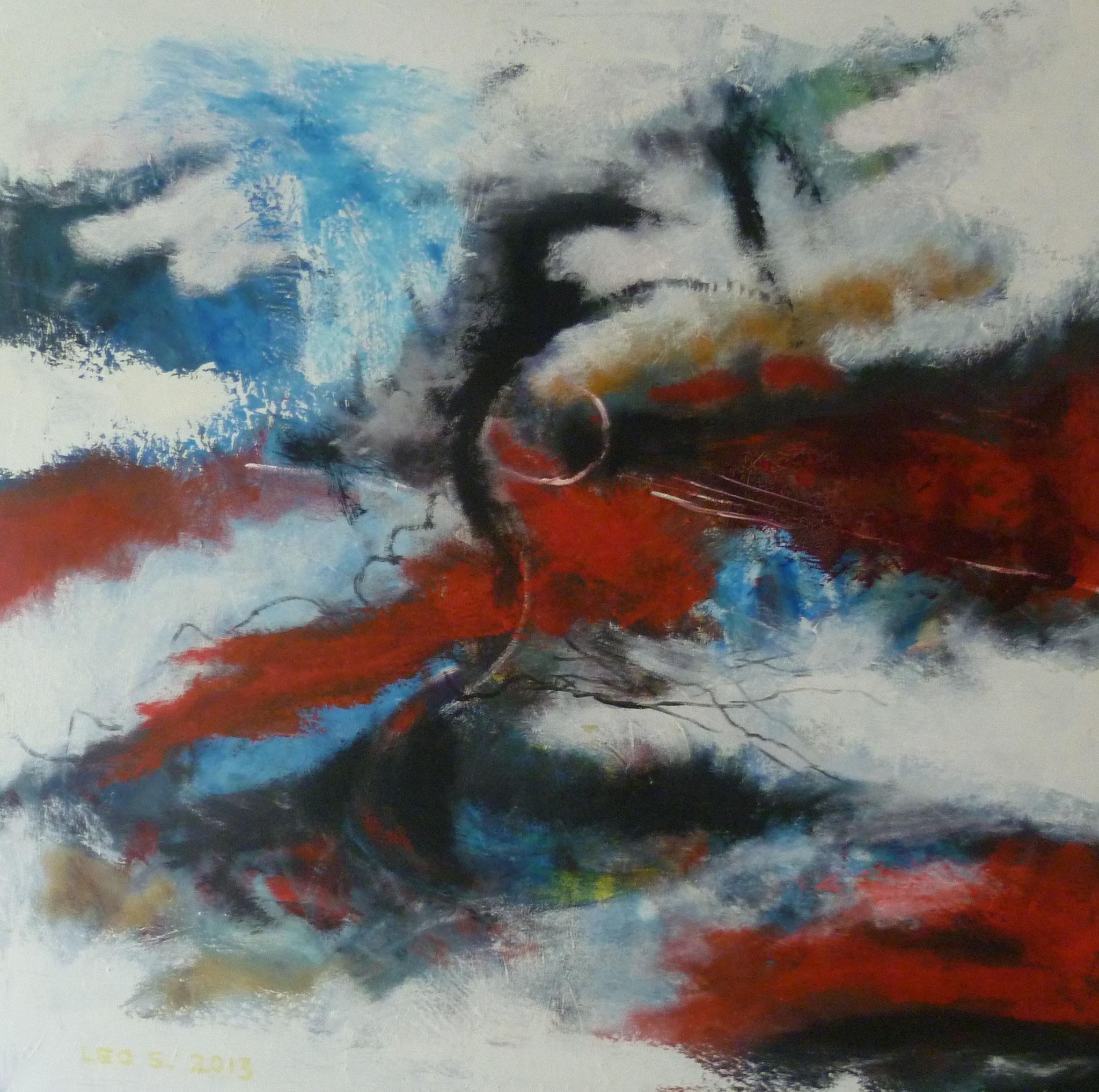 Landschaft I, Öl auf Leinwand, 80 x 80 cm