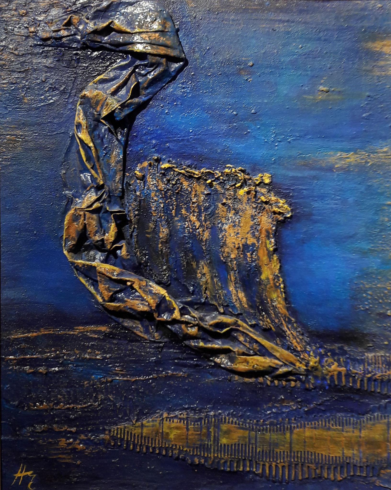 Segel, Acryl-Relief, 40 x 50 cm, 2016