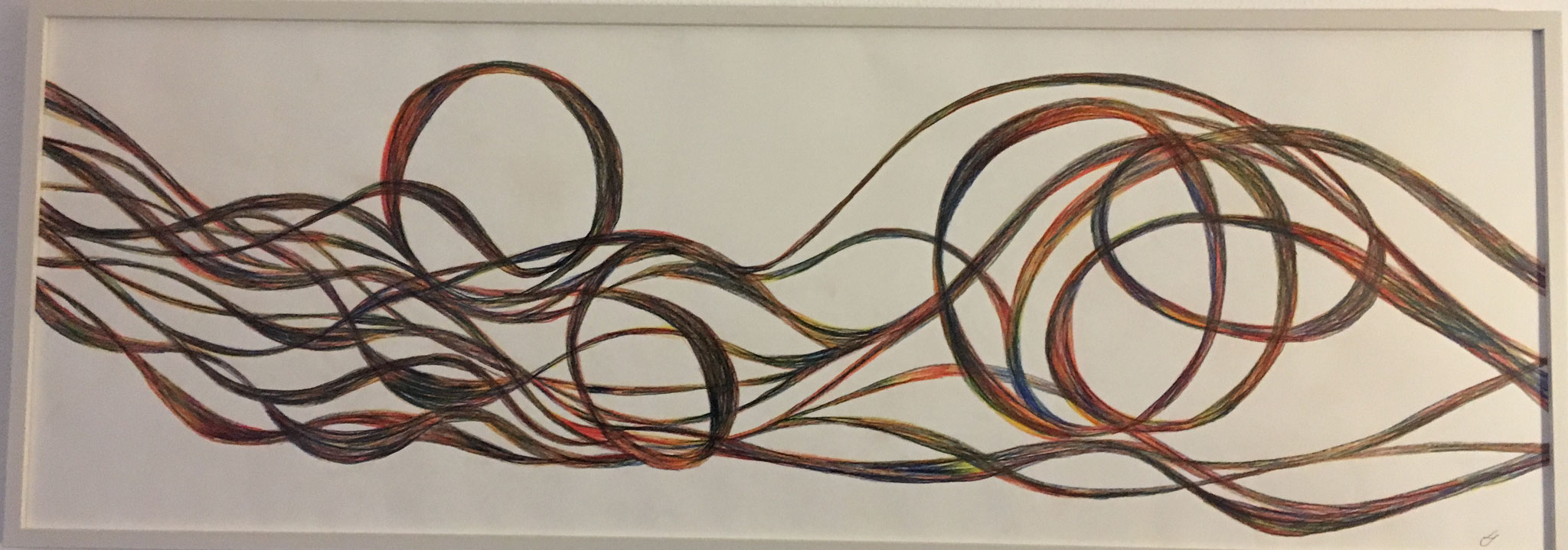 Farbstift, 35 X100cm,  2019