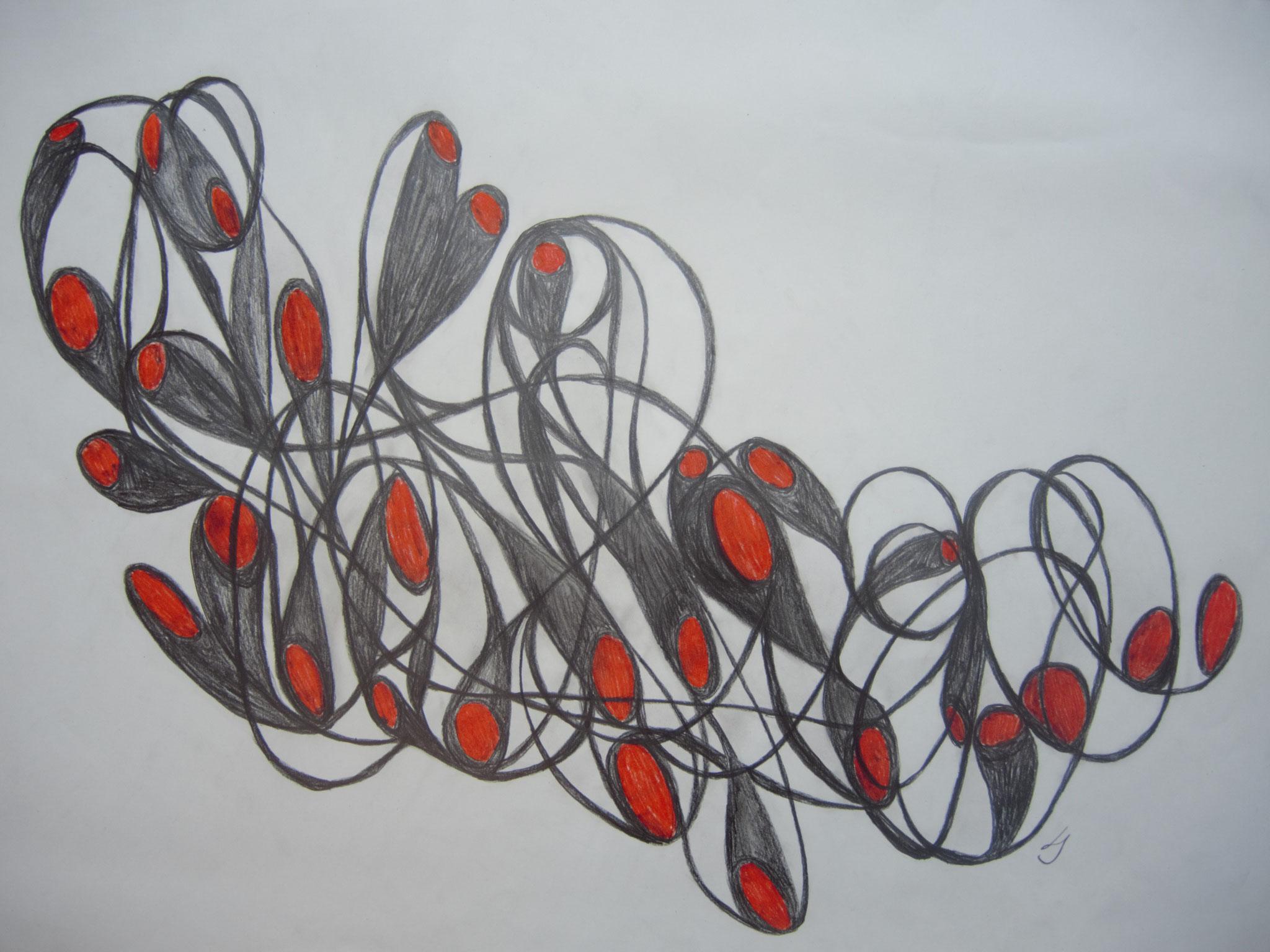 Graphit/Pastellstift, 50 x 70cm, 2020