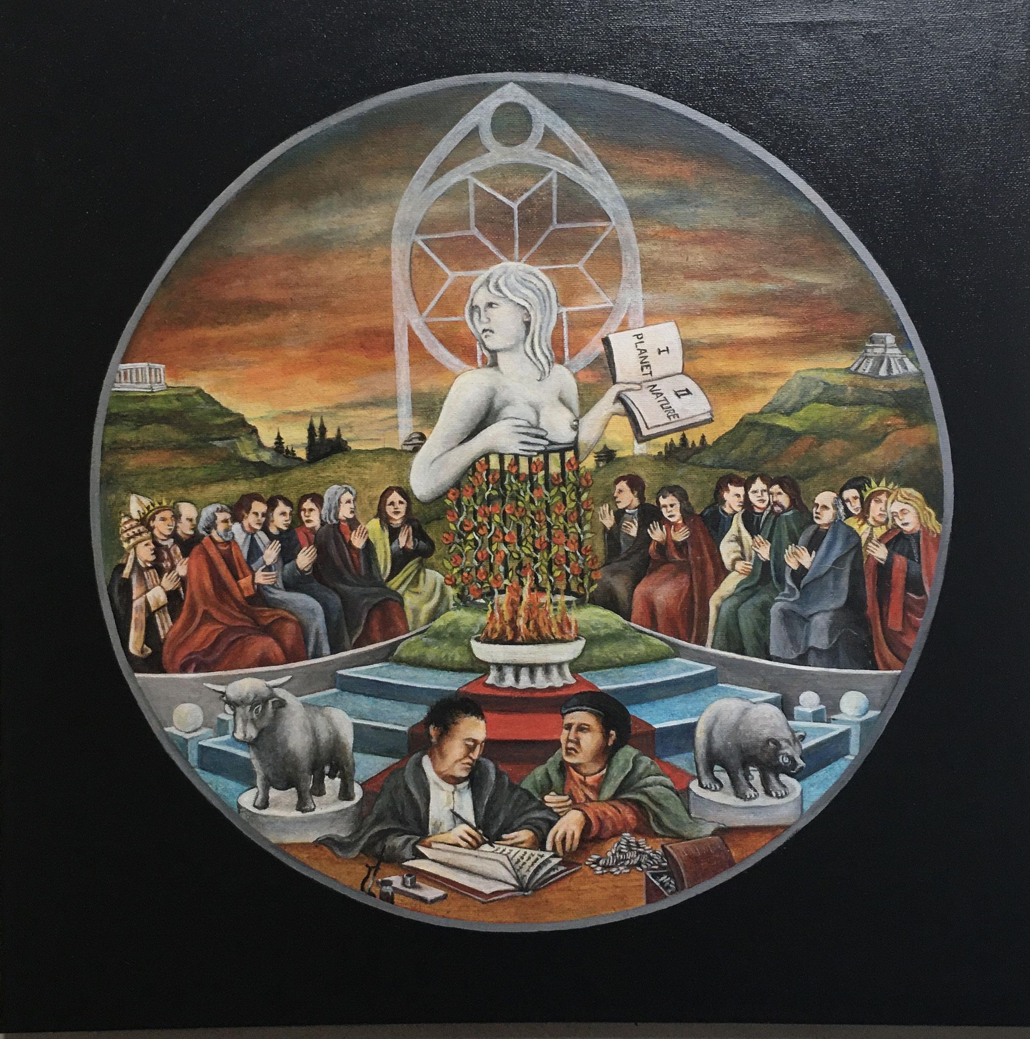 Patcha Mama – Göttin Mutter Erde, Acryl/Öl, 50 x 50 cm, 2020