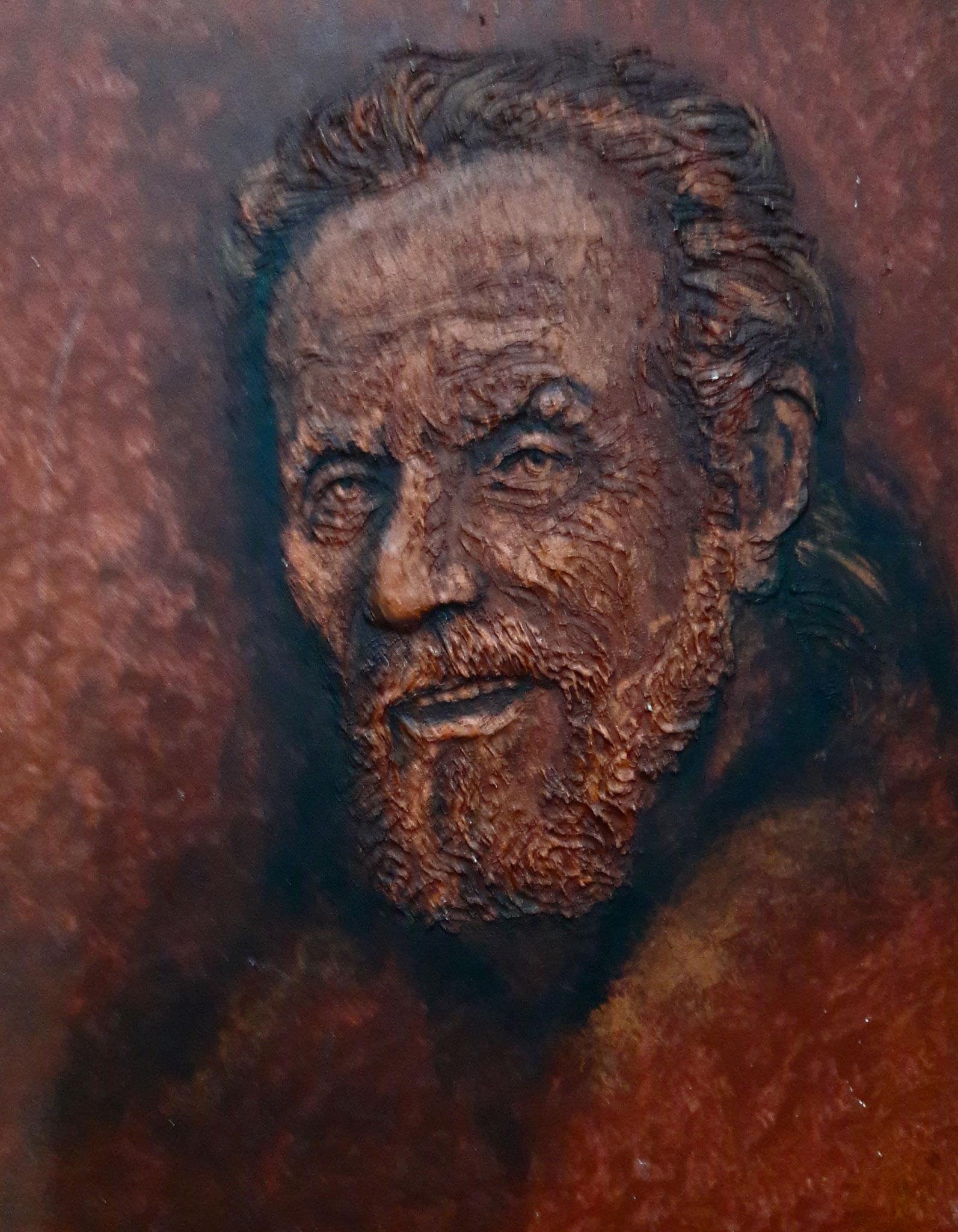 Portrait Karl, Acryl-Relief, 30 x 40cm, 2006