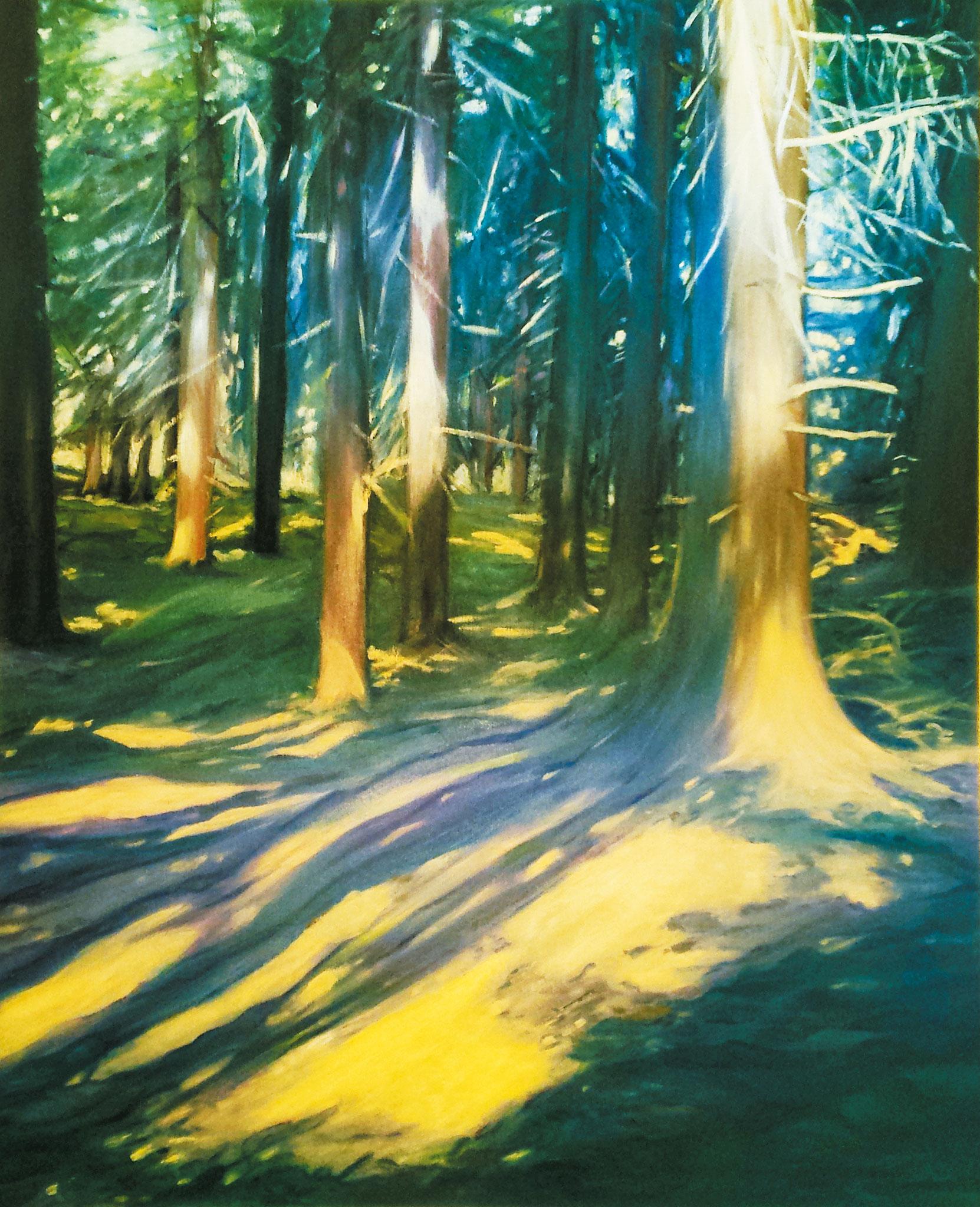 Der Wald, Öl auf Leinwand