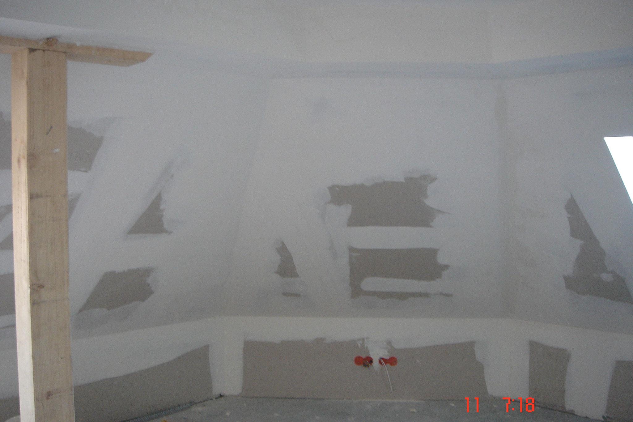 Ossature plafond rampant avec deux couches laine de verre Strasbourg 67 Activ Renovation