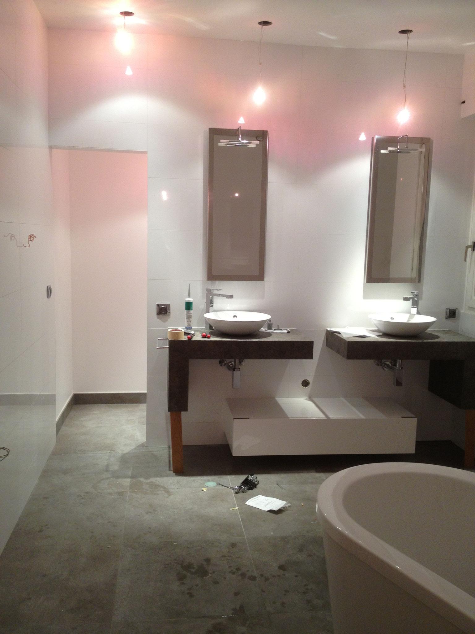 Fin de travaux de rénovation dans salle de bain Activ Renovation Strasbourg 67