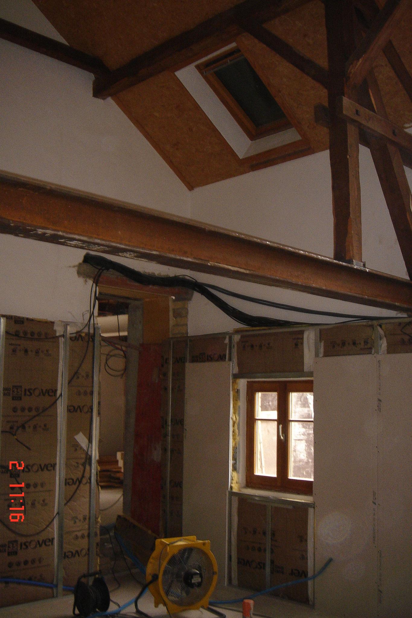 pose Optima Murs permet à la fois une isolation thermique et acoustique des murs par l'intérieur Robertsau 67 Activ Renovation