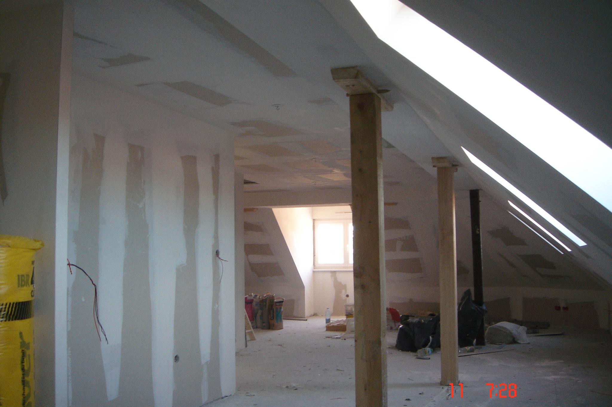pose faux-plafond deux couches laine de verre semi rigide Strasbourg 67 Activ Renovation