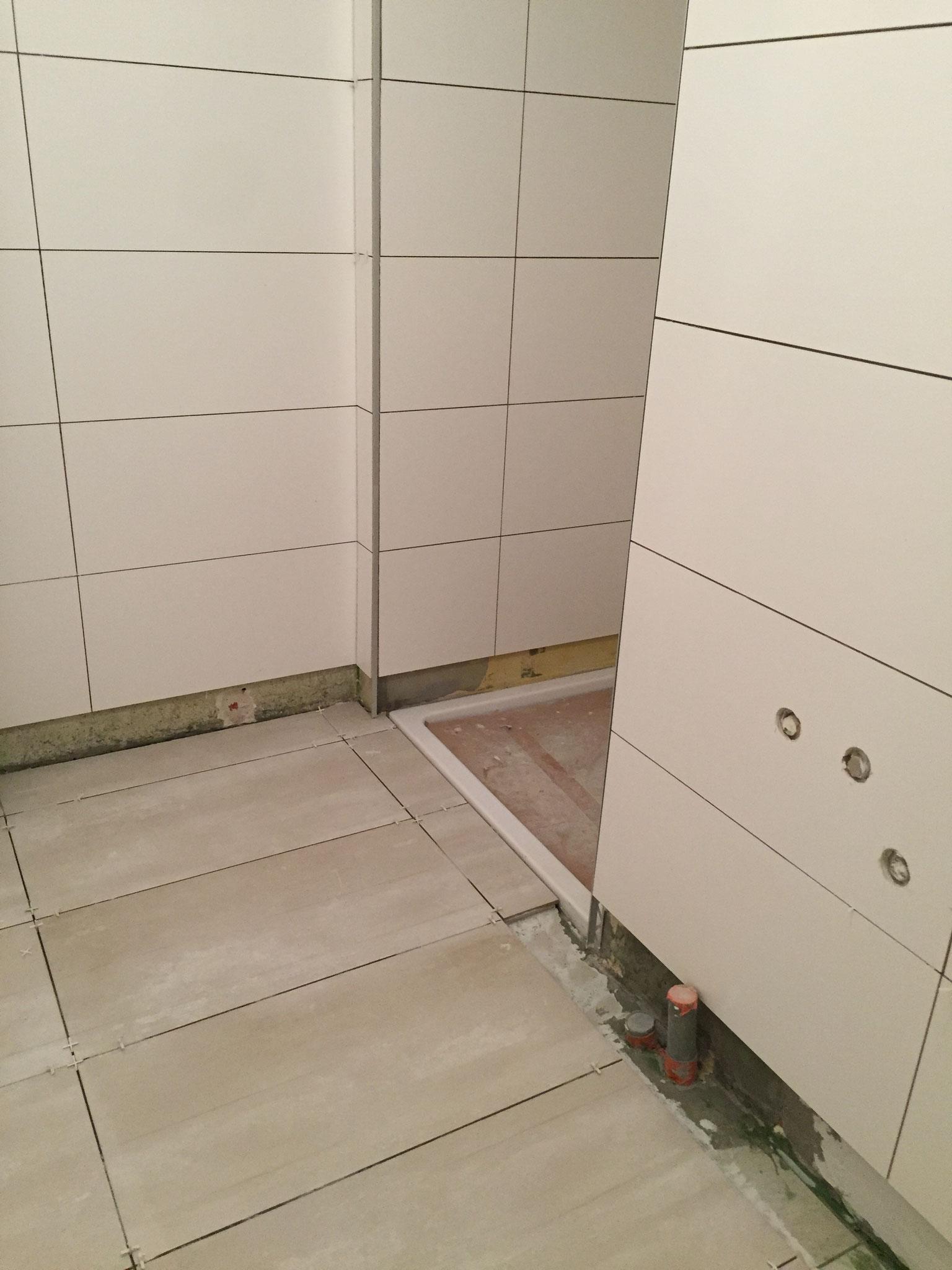 Pose de carrelage dans une salle de bain Activ Renovation Strasbourg 67
