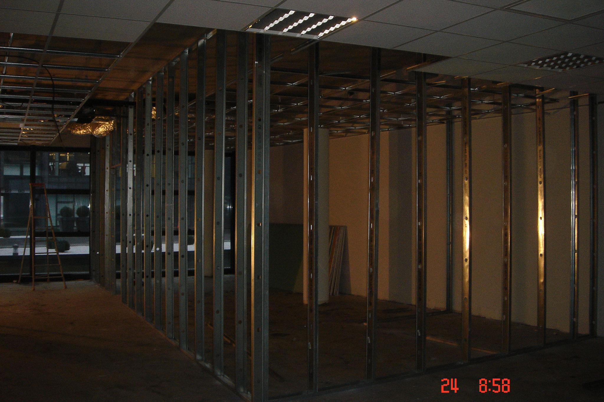 Cloison distribution à ossature métallique Strasbourg 67 Activ Renovation