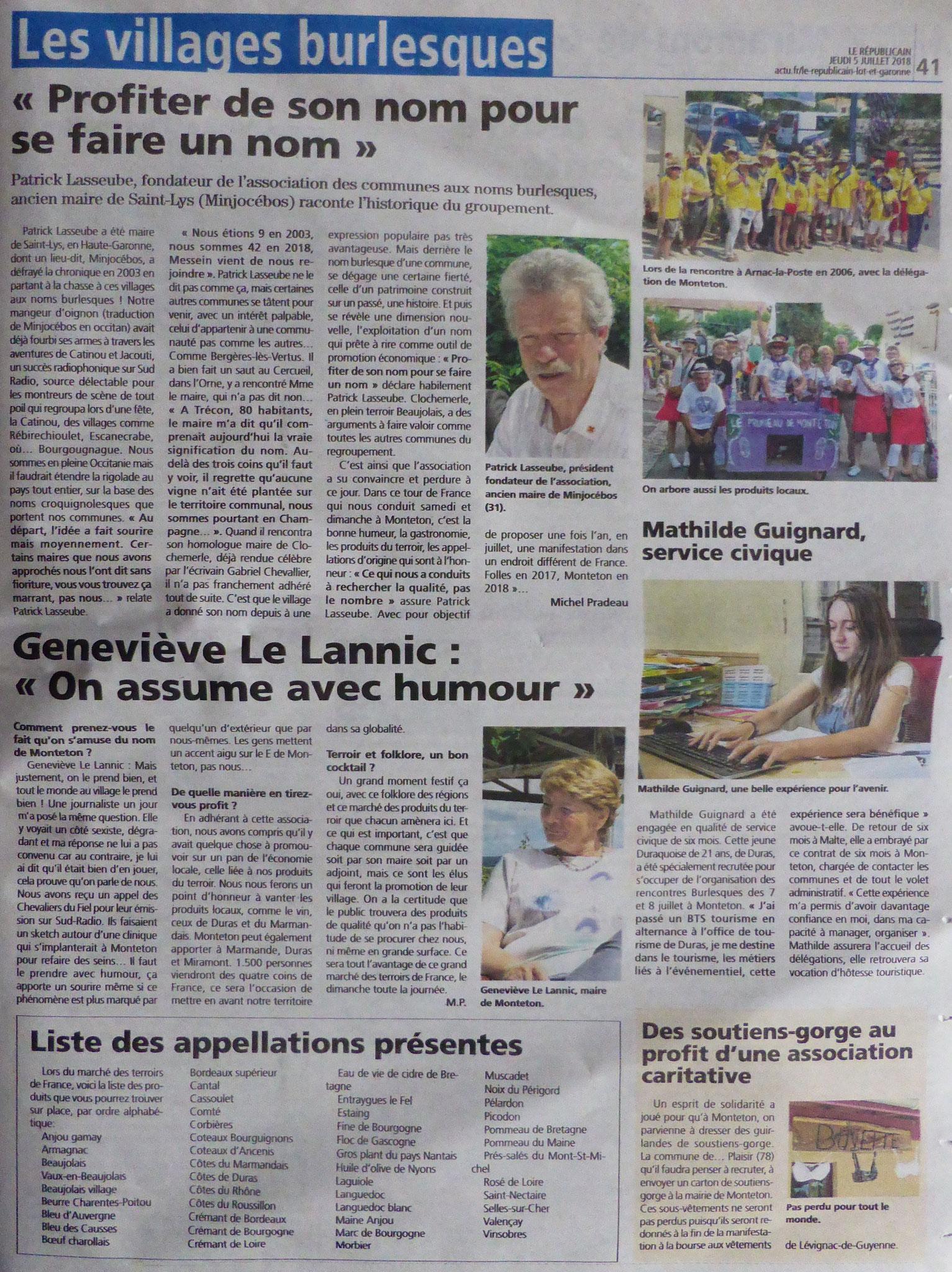 MONTETON - Le Républicain - Marmande - 5 juillet 2018 - 2/2
