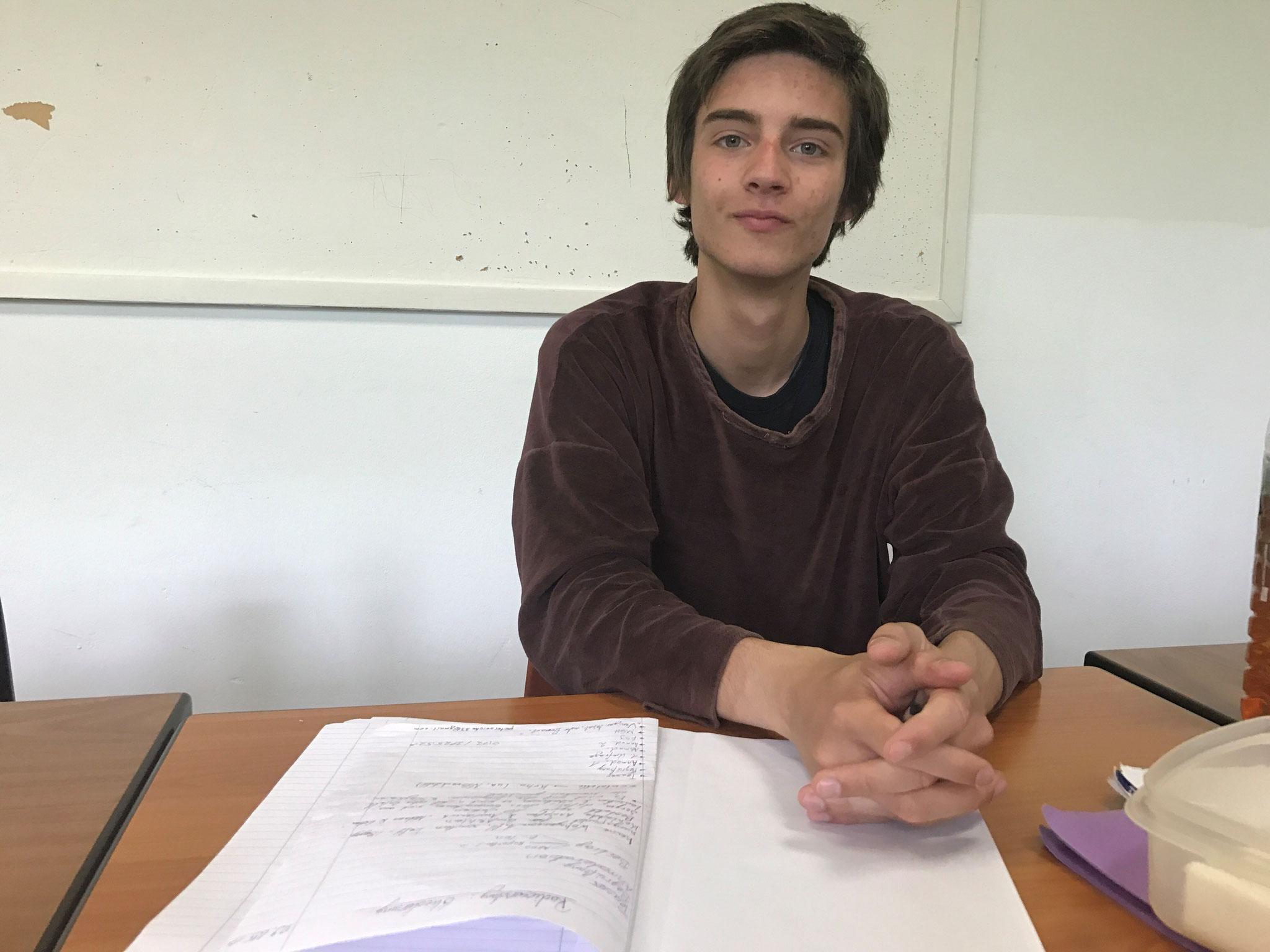 """Peter Kubatschek (18 Jahre): """"Arbeit ist mehr wert als Geld"""""""