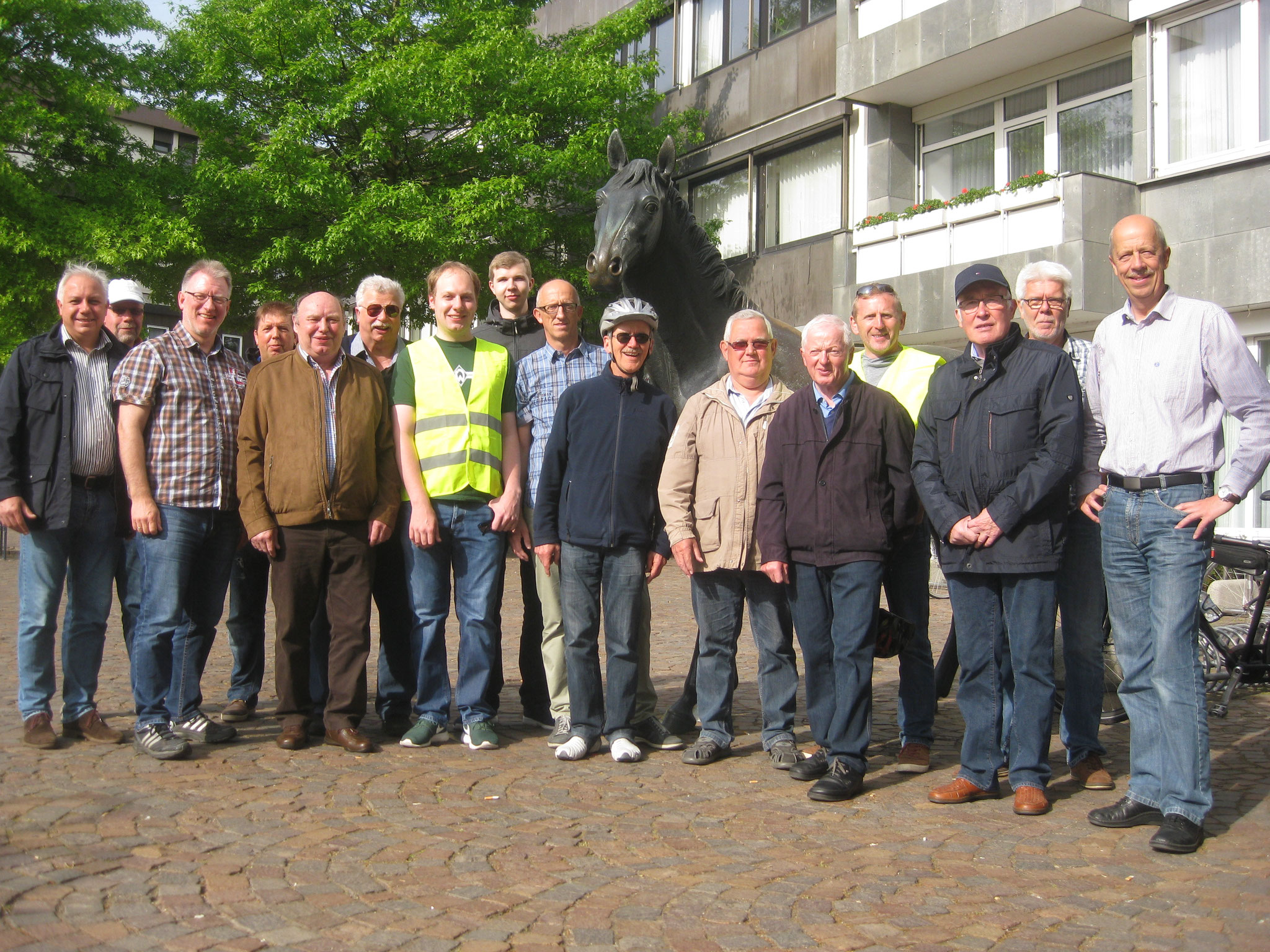 Fahrradtour Männersportgruppe 2016 nach Bünne
