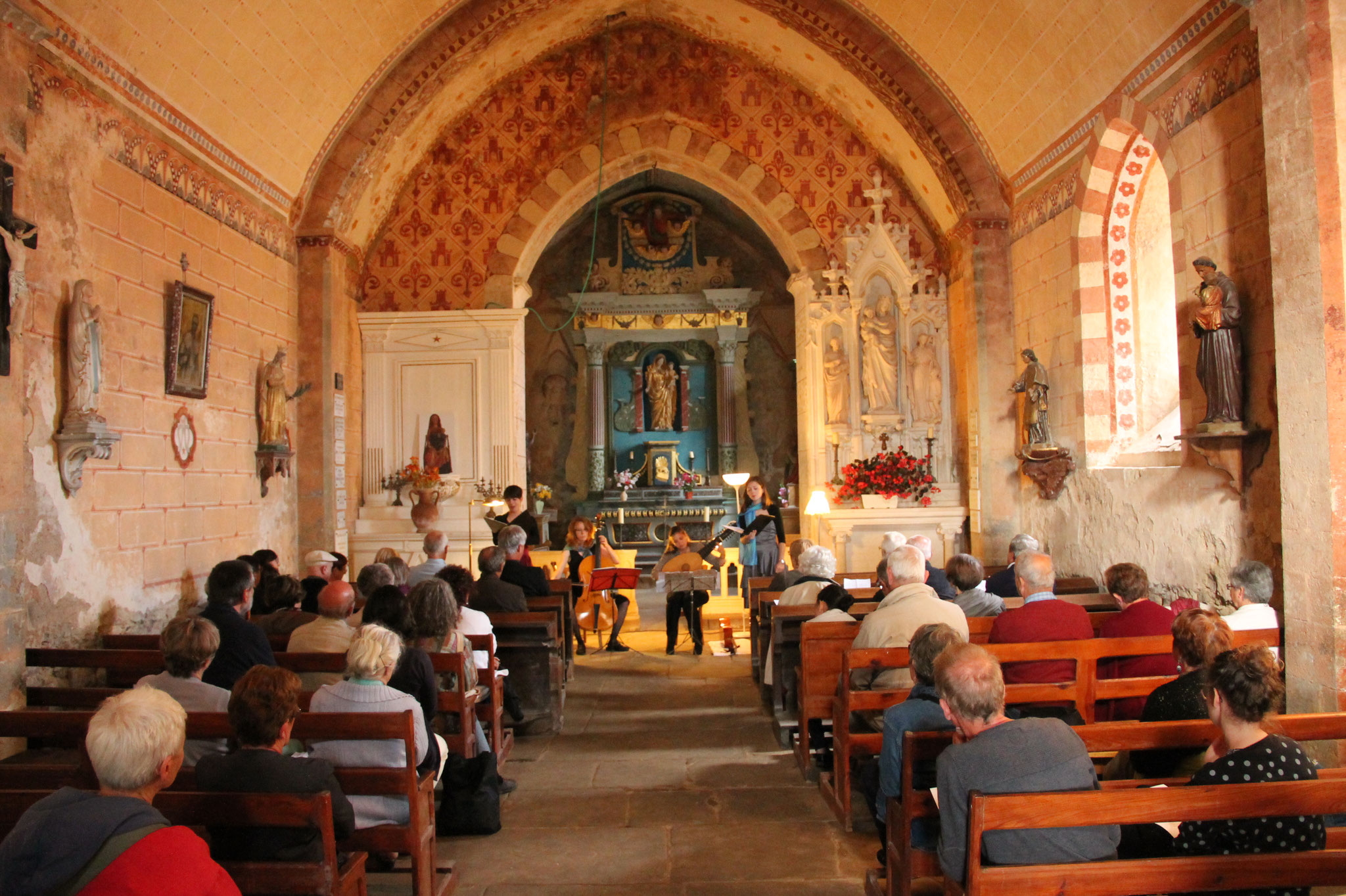 Kapsber'girls à la chapelle de Néronde