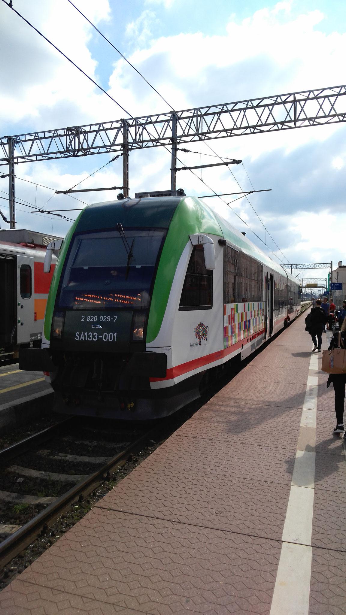 Train Bialystok (Pologne) - Kaunas (Lituanie)
