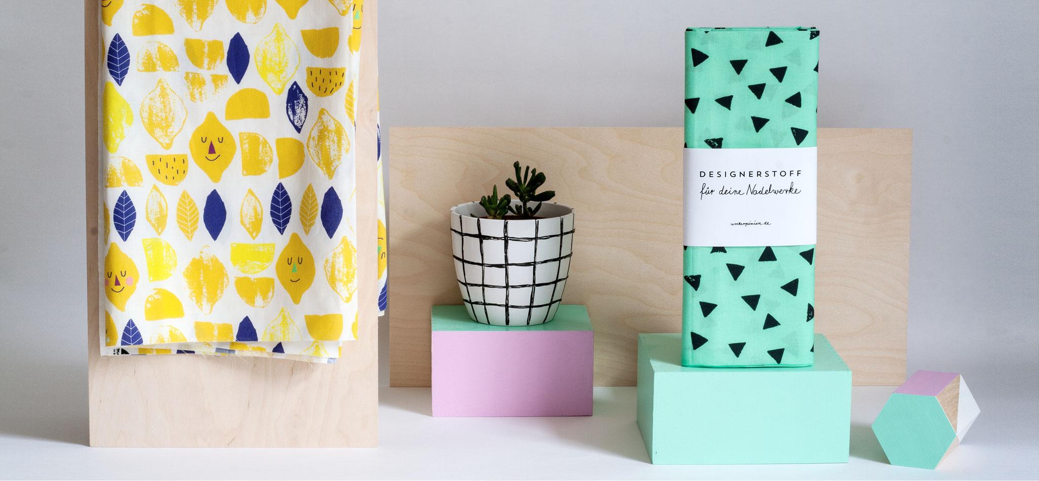zitrone baumwollstoff unter pinien. Black Bedroom Furniture Sets. Home Design Ideas