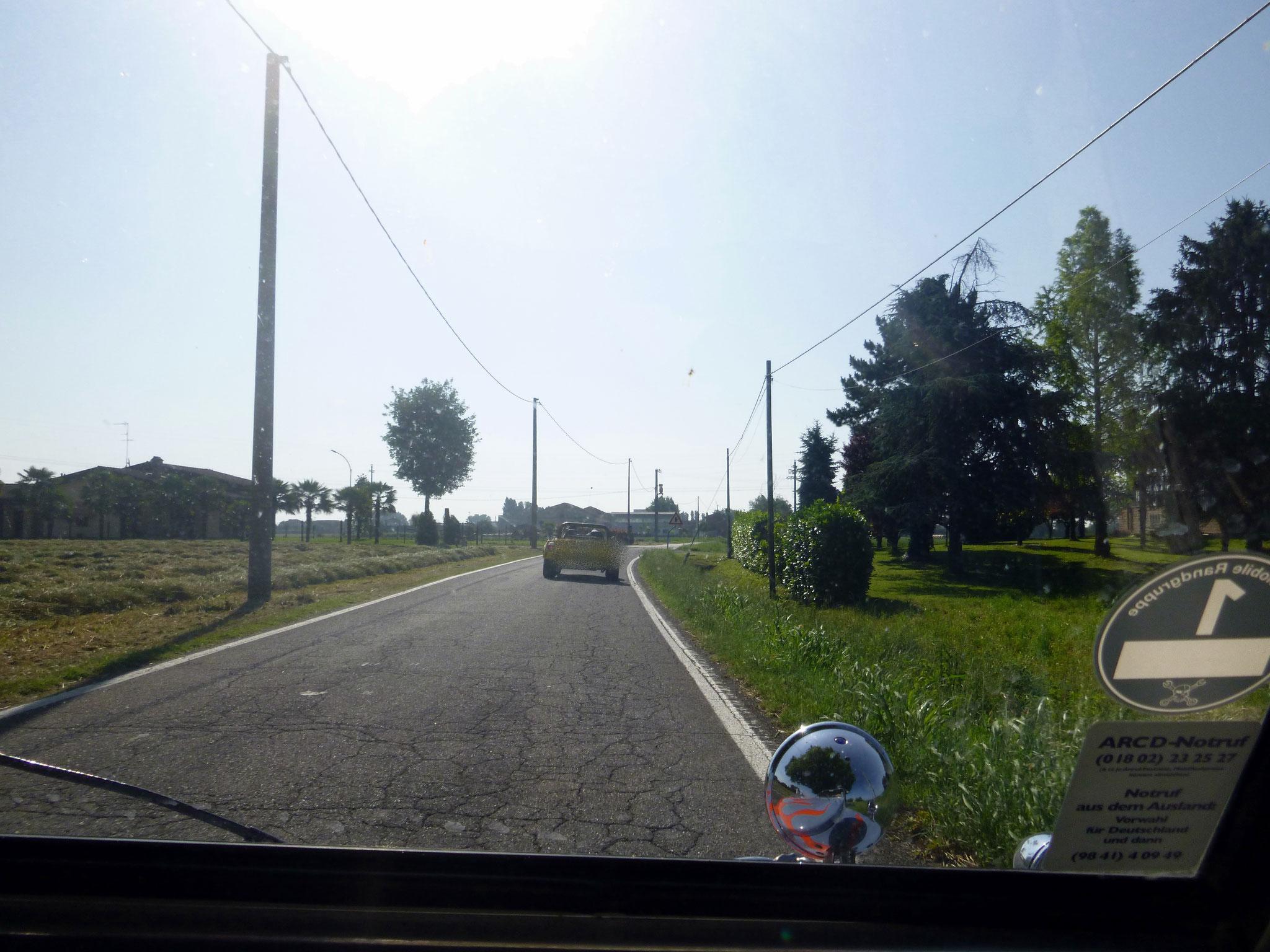 Straße in der Emilia-Romagna