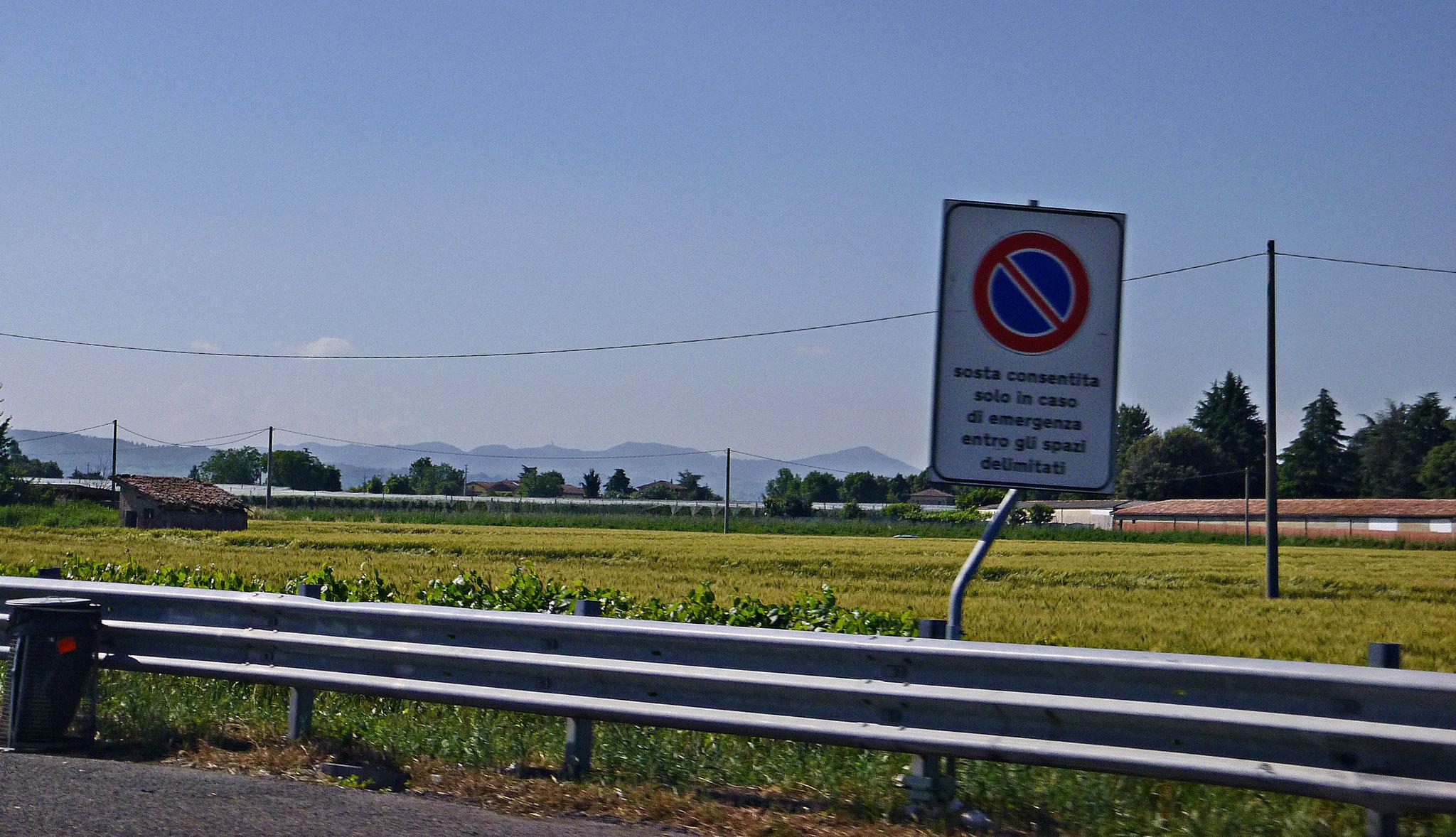 Auf dem Weg in der Nähe von Mantua