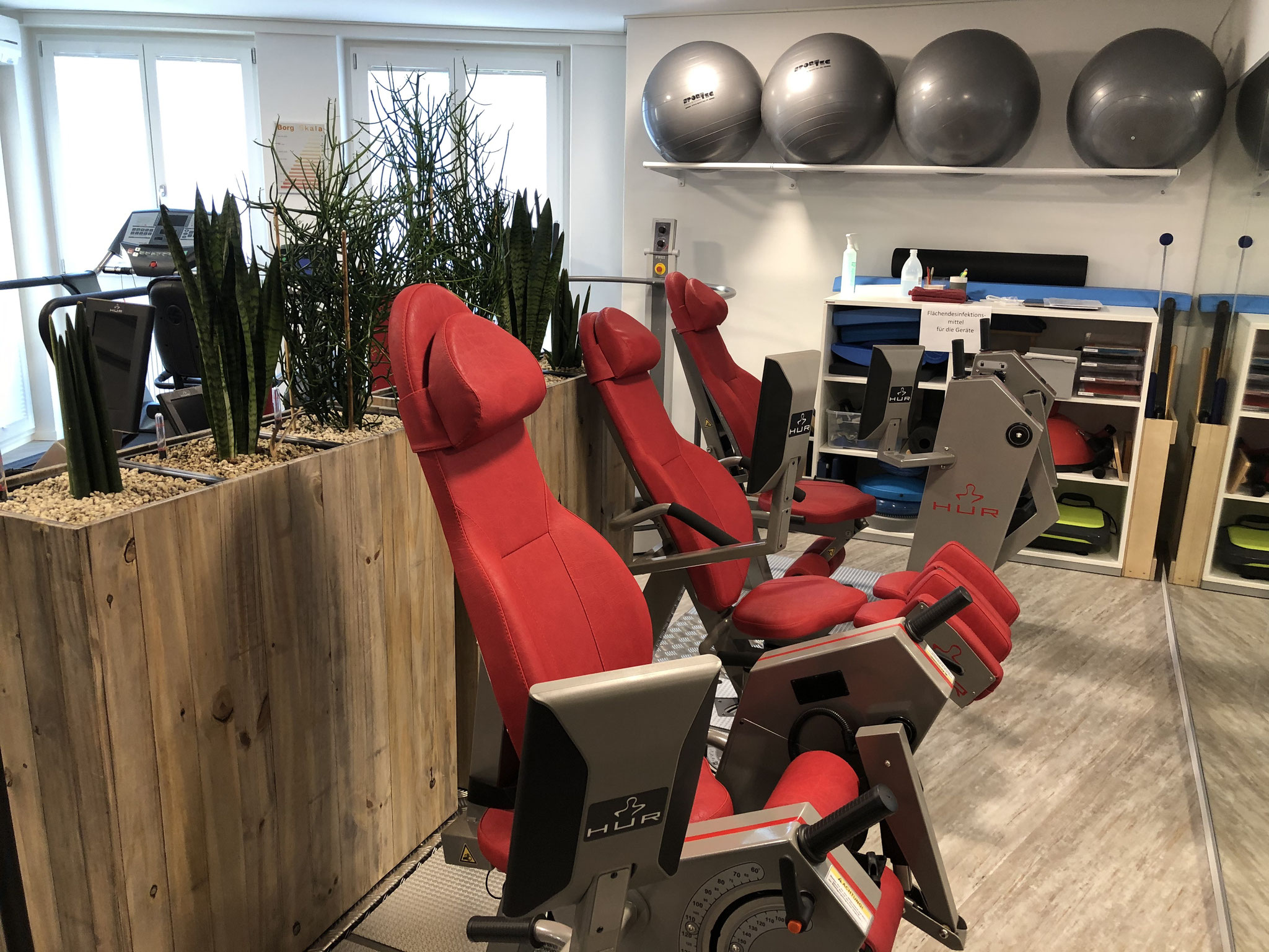 Trainingsbereich Wellsana Basel Physiotherapie