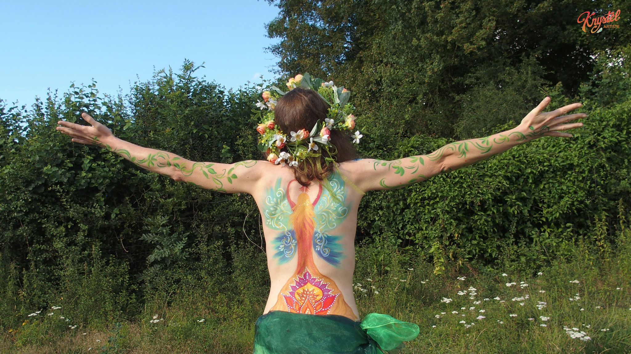 body painting, femme, guerison