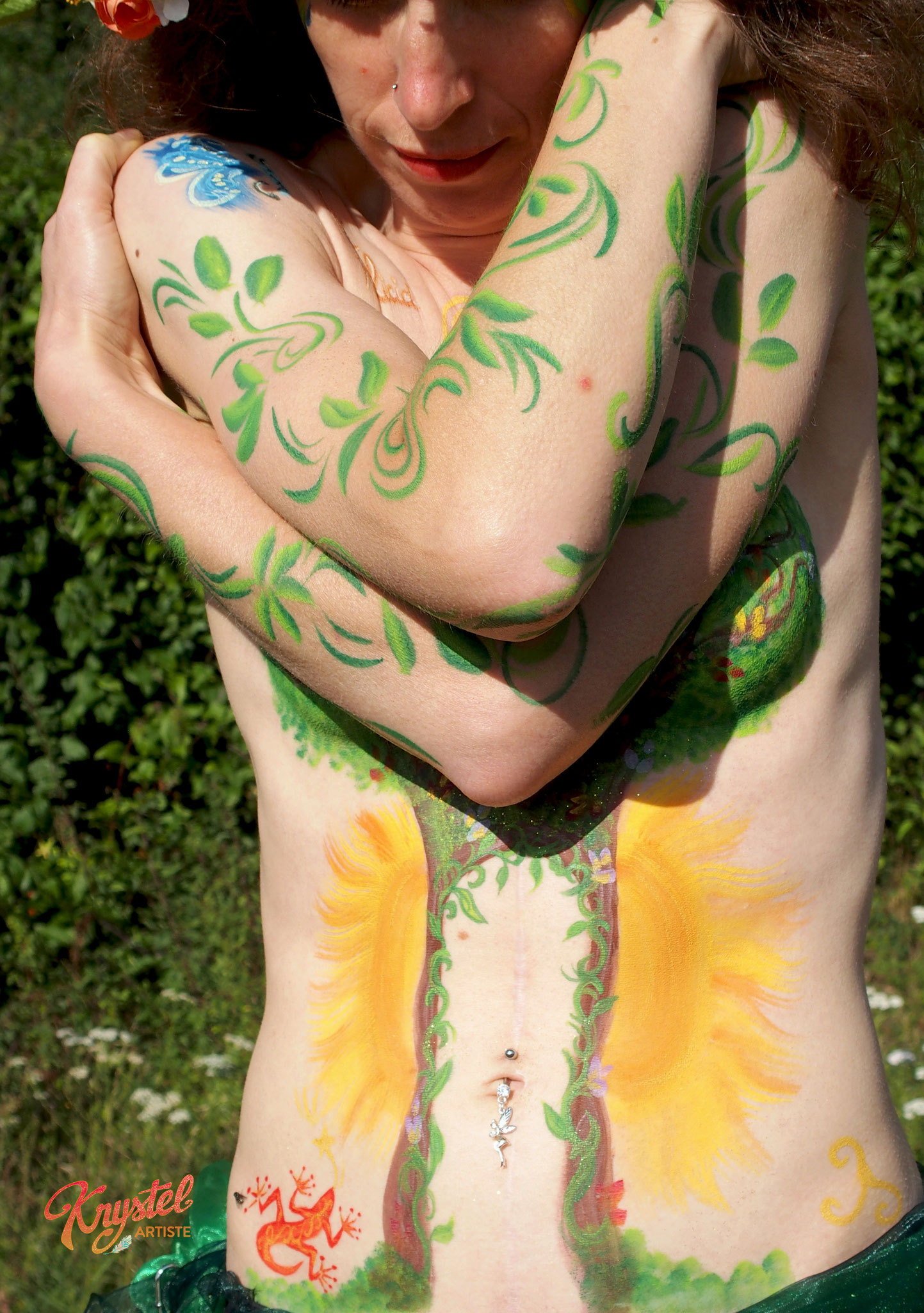 féminin peinture corporelle reconstruction