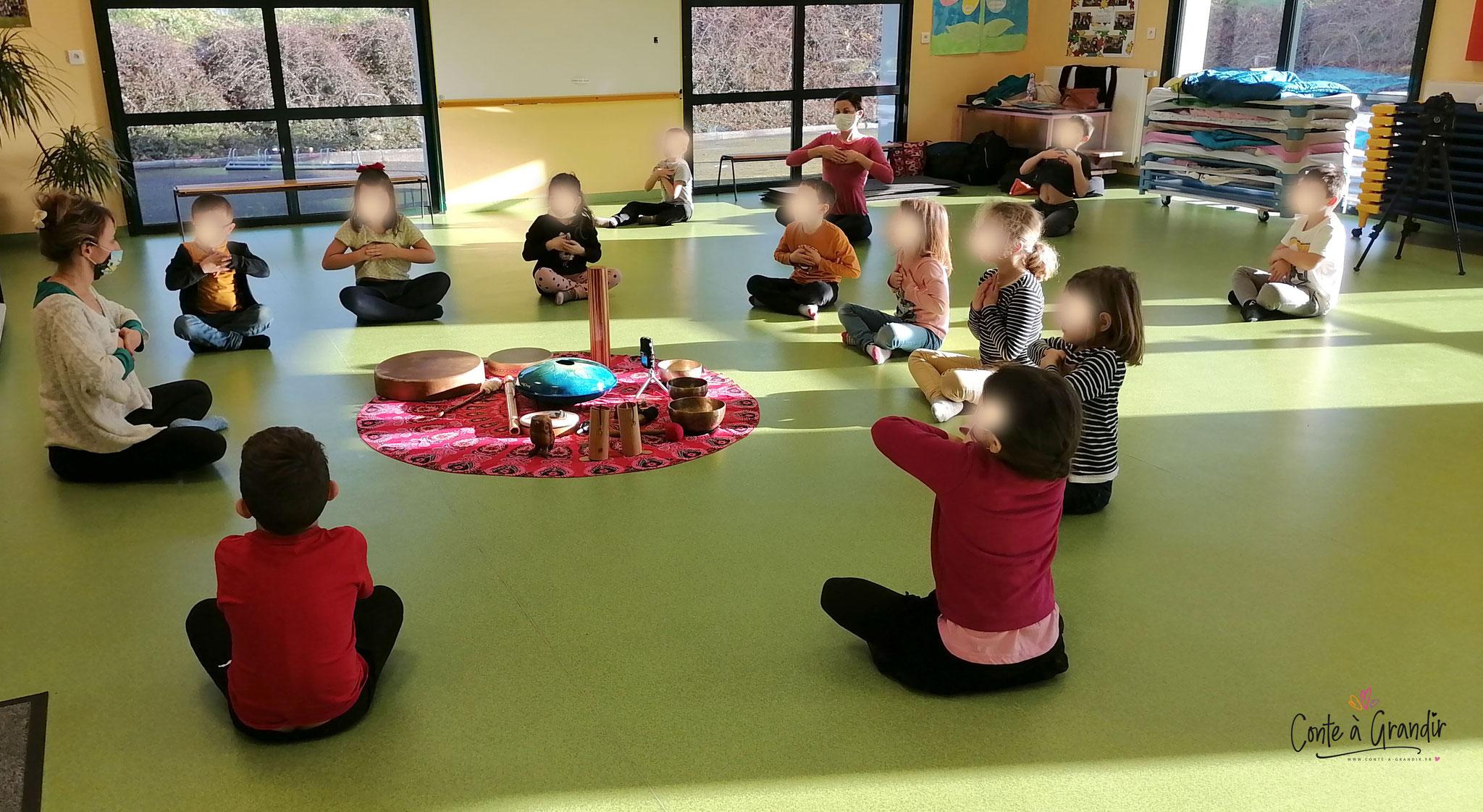méditation joyeuse, enfant, angers