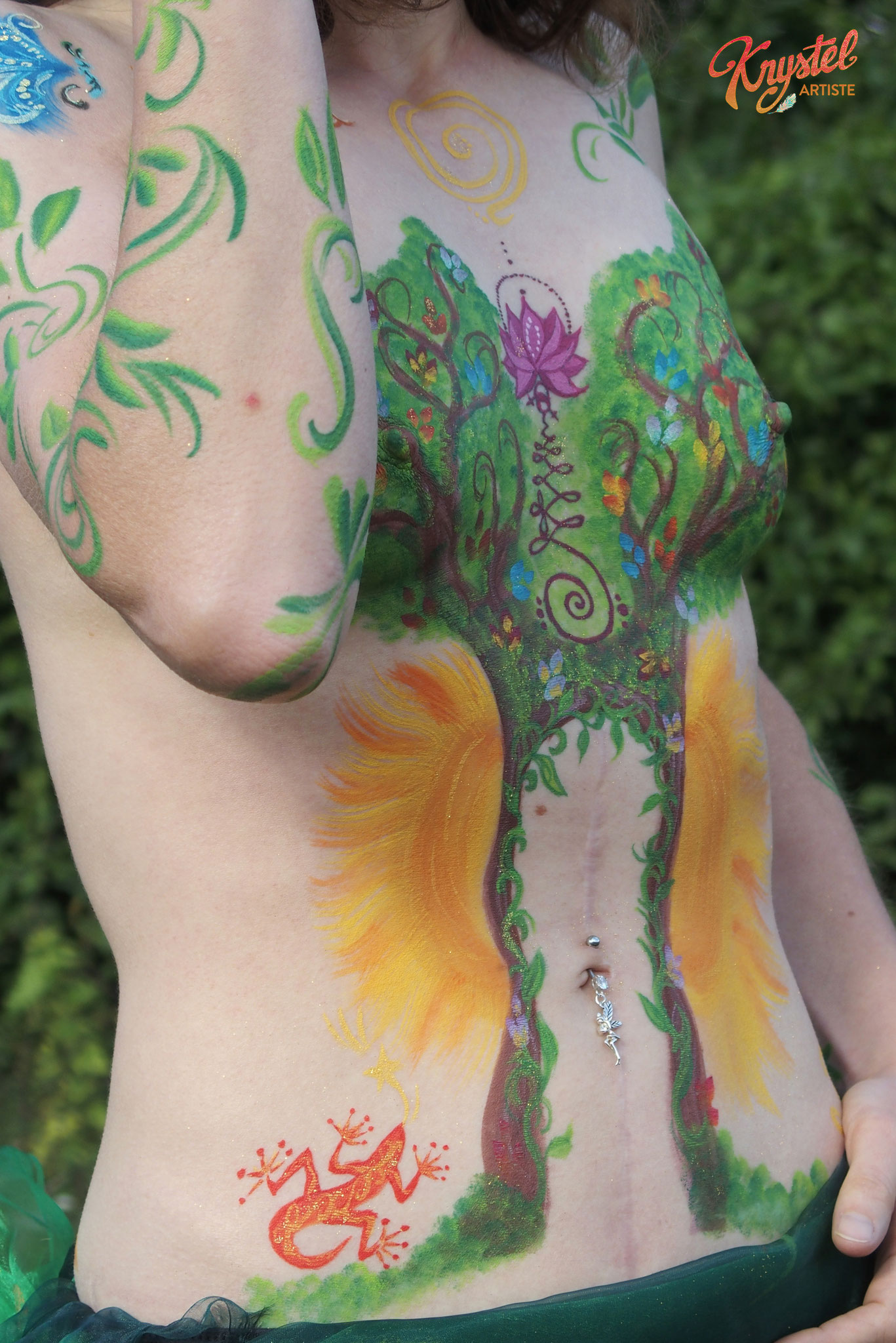 body painting femme reconstruction