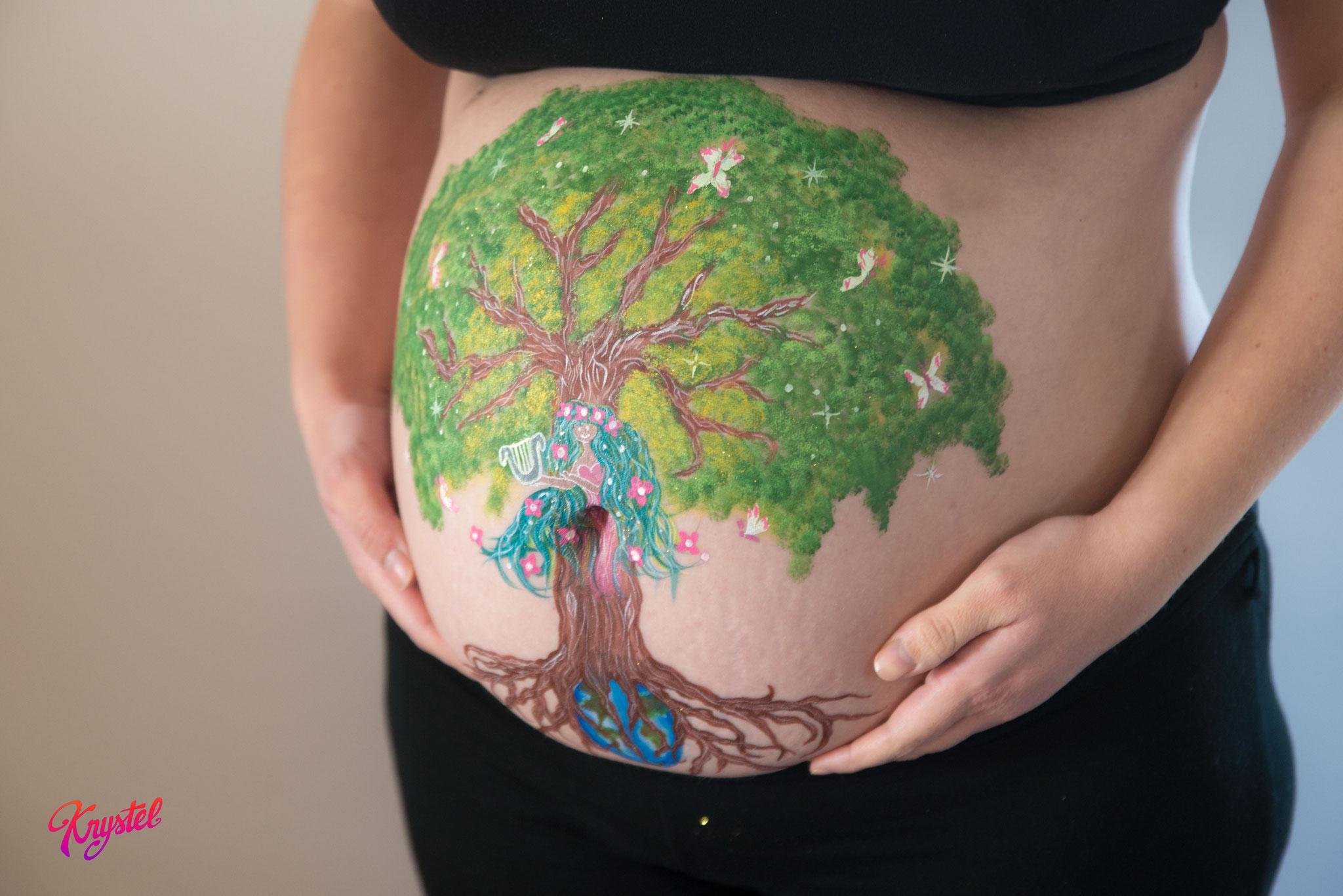 belly painting, morbihan
