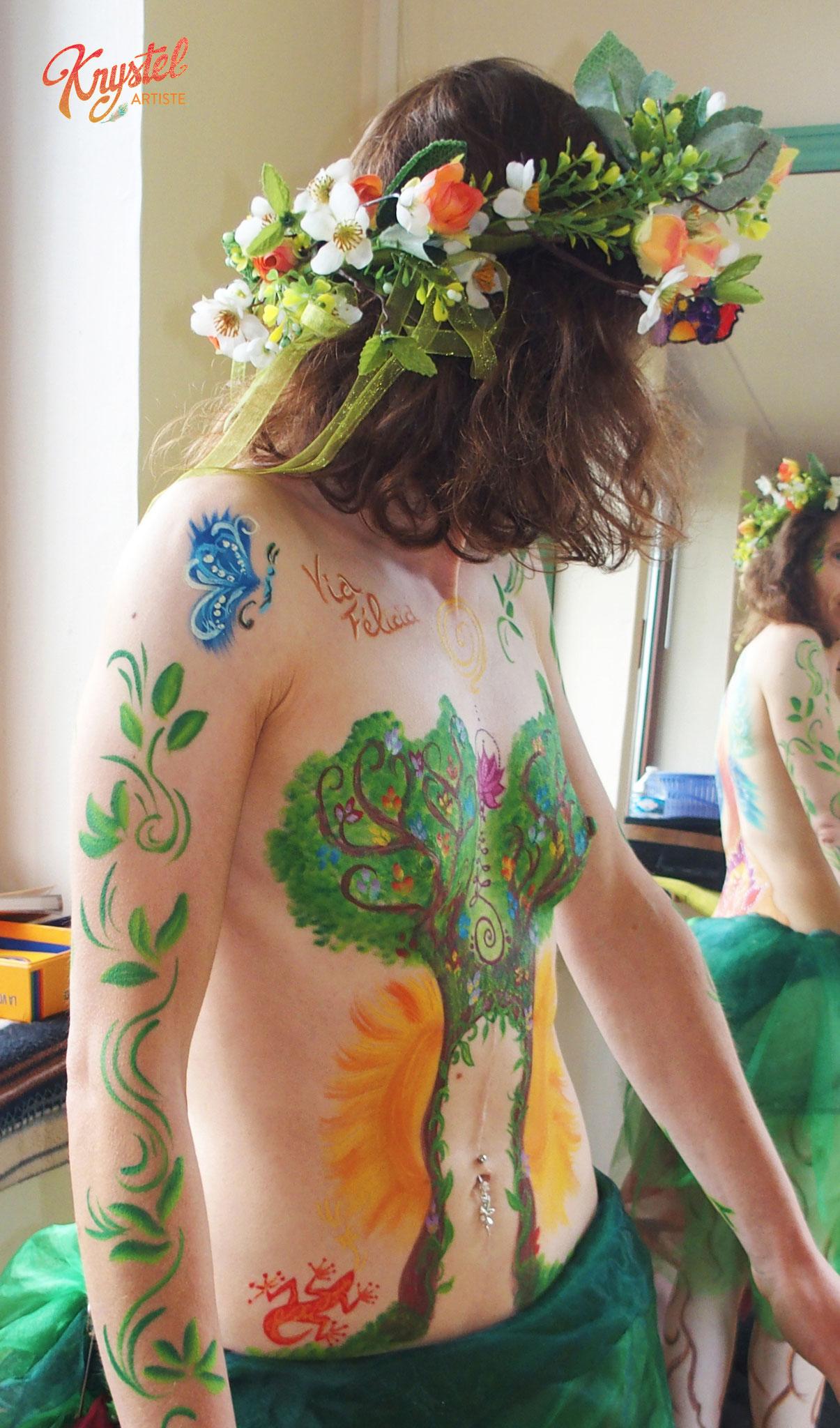 peinture corporelle, féminin