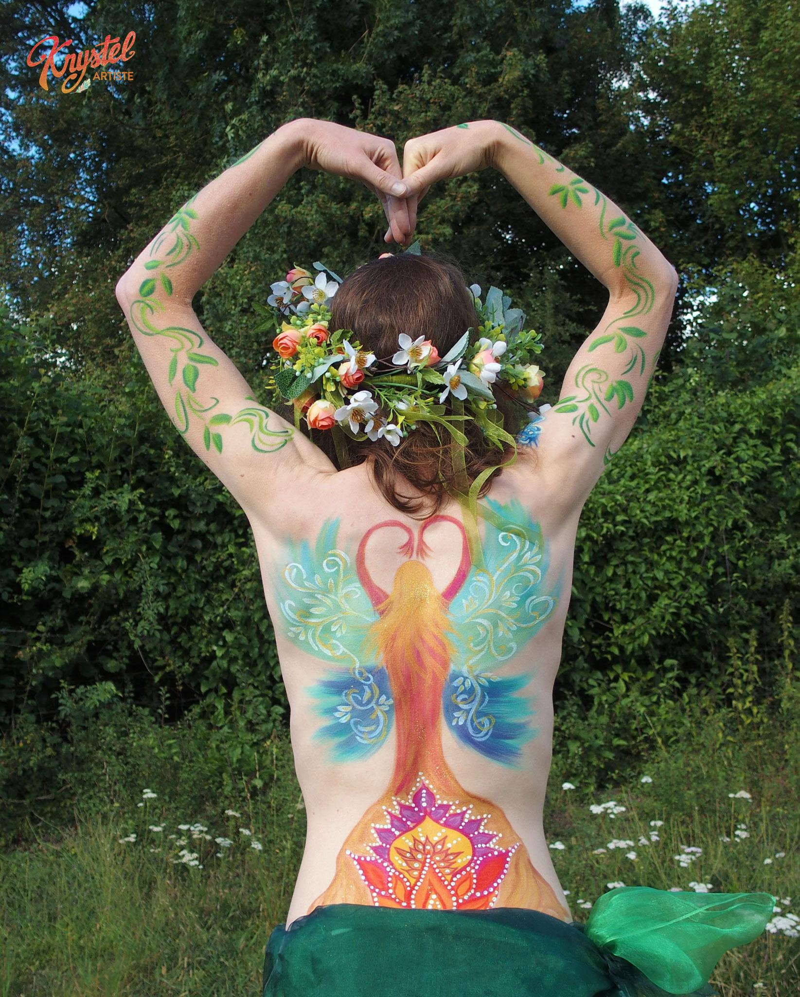 peinture corporelle reconstruction