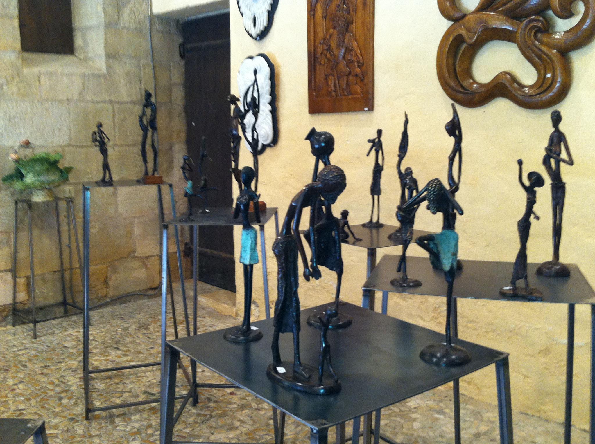 2016 - 24 Sarlat - Espace Plamon - Exposition avec Eve Delaneuville, sculpteur sur bois et Annie Soret, céramiste