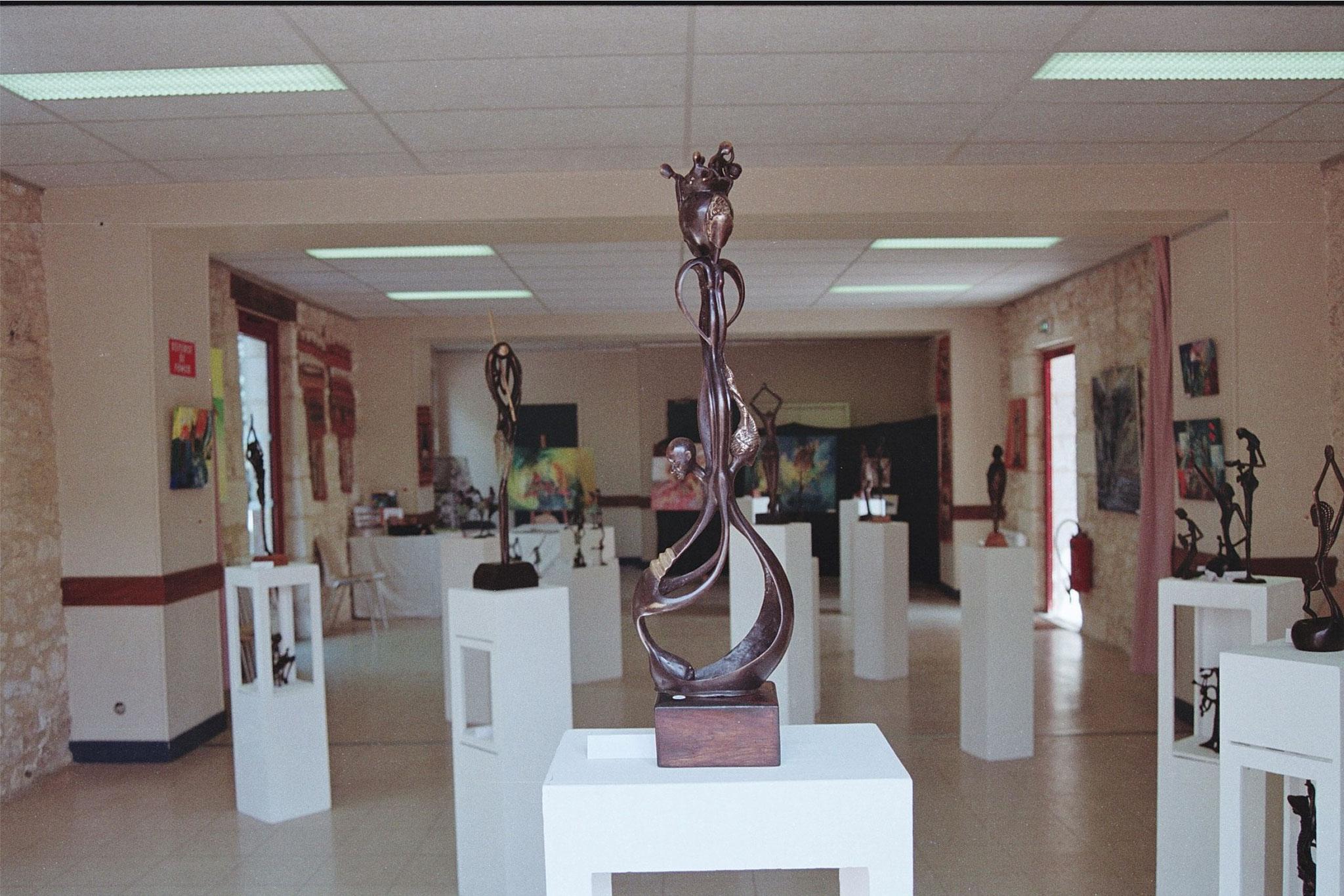 2016 - 24 Monbazillac - Exposition avec Claudine Menou et Aliou Bolly, artistes peintres