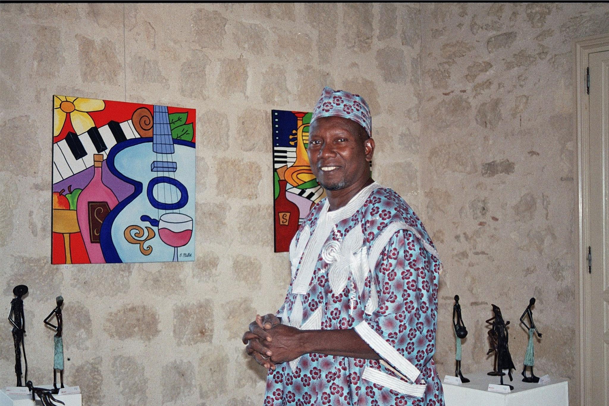 2015 - 33 Pujols - Amicale laïque - Exposition Salles du Château avec Claude Millet, artiste peintre