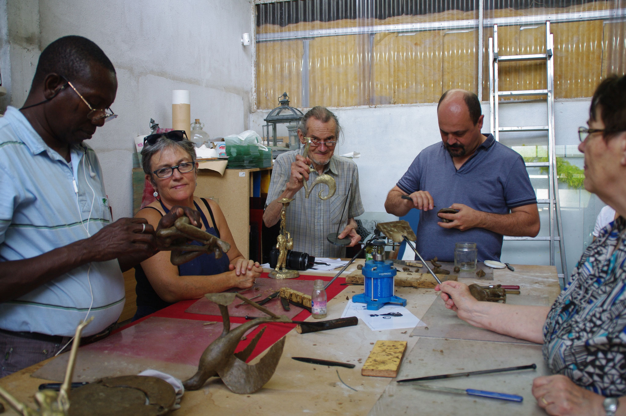 2017 - 47 Dausse - Galerie Art Broc Café - Atelier, technique du bronze à la cire perdue