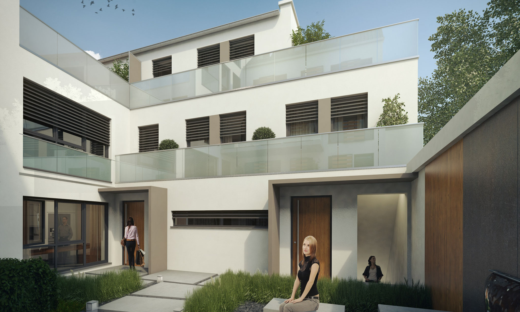 Neubauprojekt SülzerGärten - Neubautownhouses und EIgentumswohnungen im Herzen von Sülz - Verkauf von 9 Einheiten