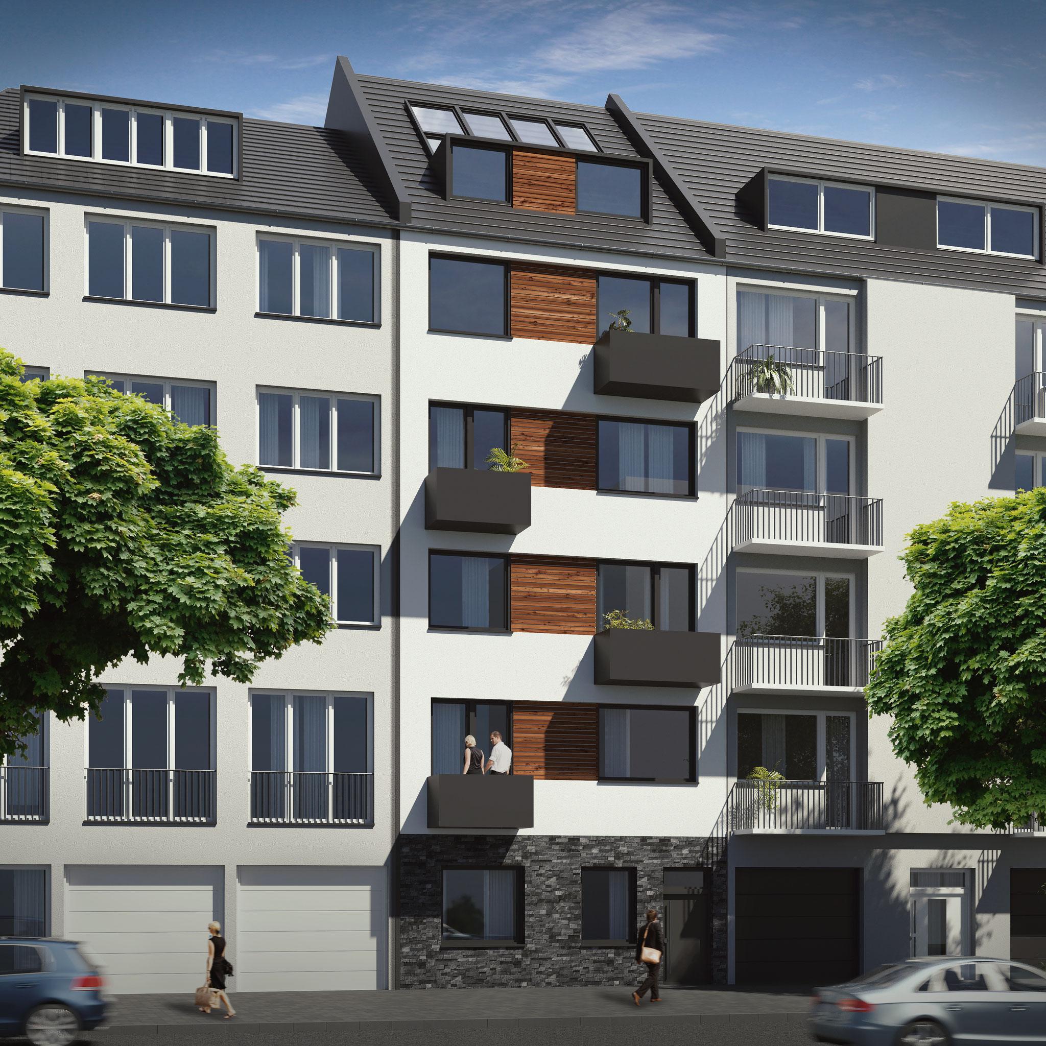Neubauprojekt CityTerrassen in Düsseldorf Friedrichstadt - Verkauf von 6 Einheiten