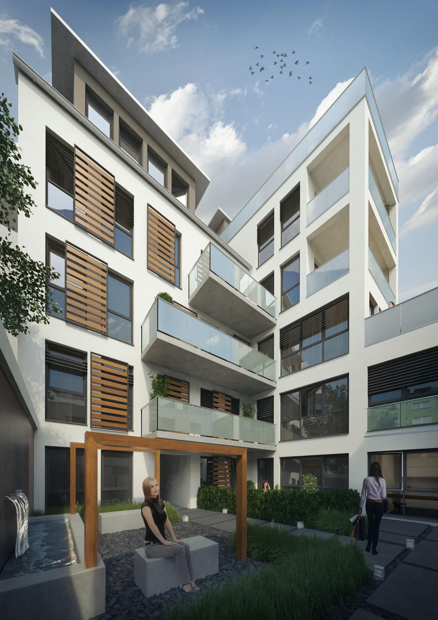 Neubauprojekt in Köln Sülz, Neubau von 5 Eigentumswohnungen und 2 Townhouses