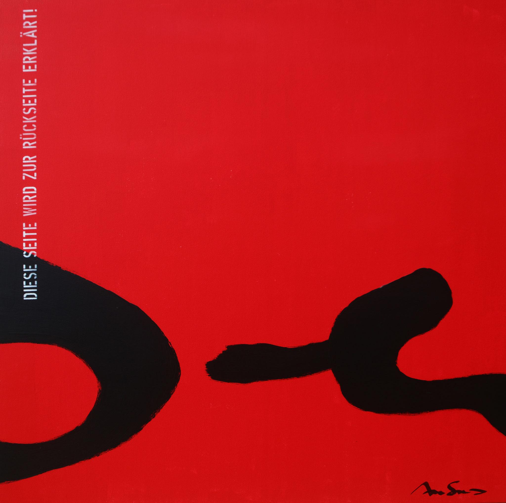 Heureka XII - Rückseite - Acryl-/Mischtechnik auf Leinwand - 100 x 100 cm