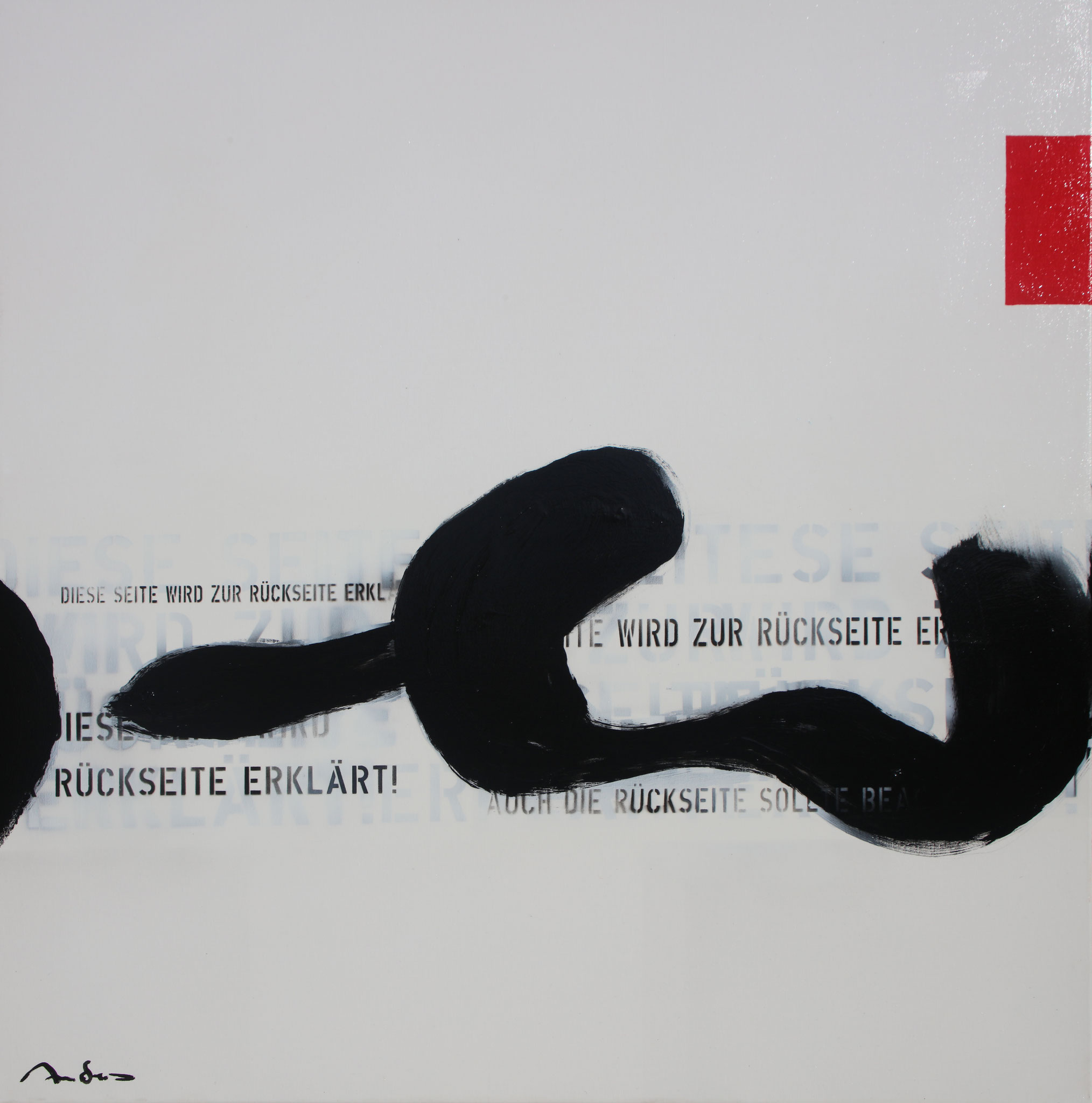 Heureka II - Rückseite - Acryl-Mischtechnik auf Leinwand - 100 x 100 cm