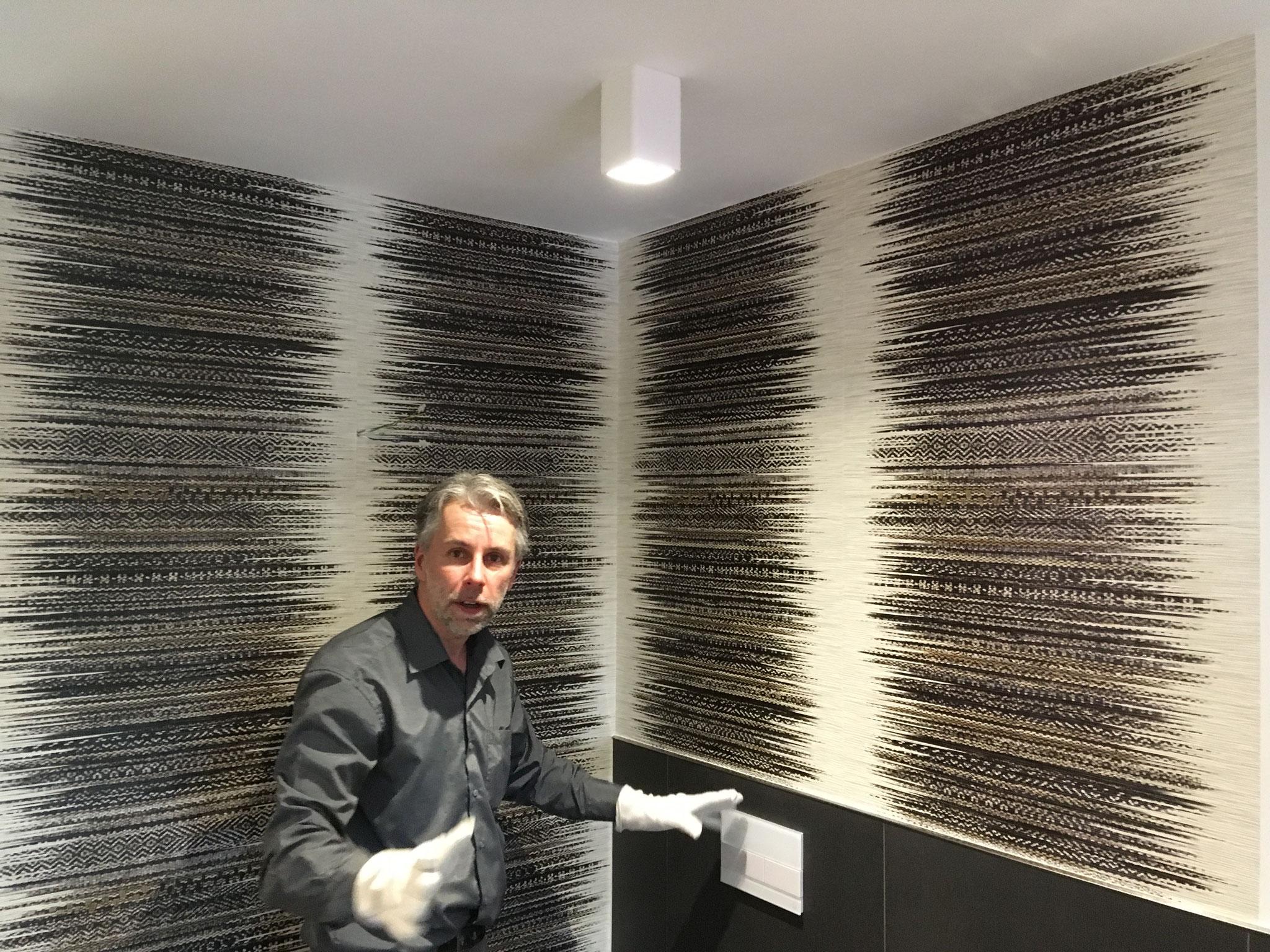 Wie immer, sehr routiniert - unser Badgestalter, Christian Brinkmann, macht echt gute Arbeit