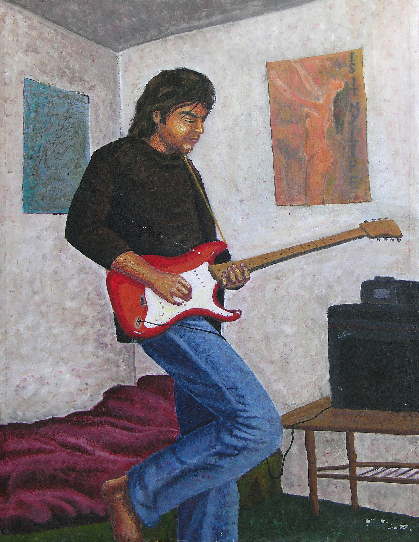 Boy , Acrylic on canvas, 130 x 180 cm, 1998