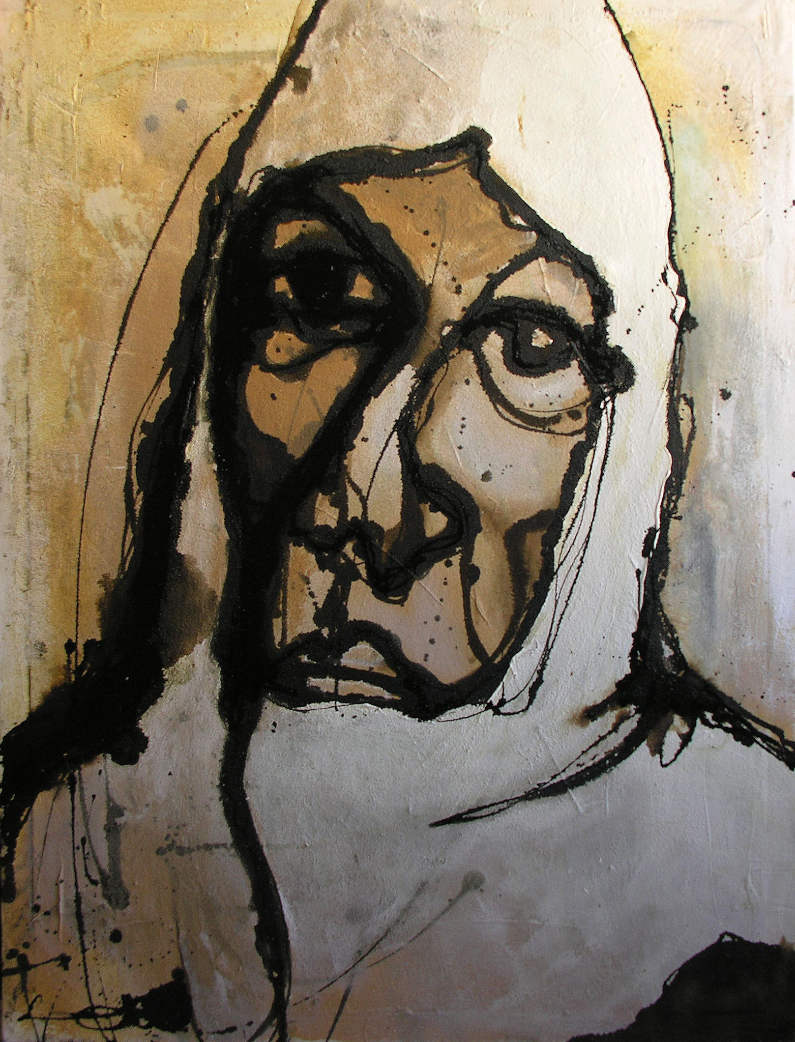 Woman, Mixed Media on canvas, 120 x 162 cm, 2000