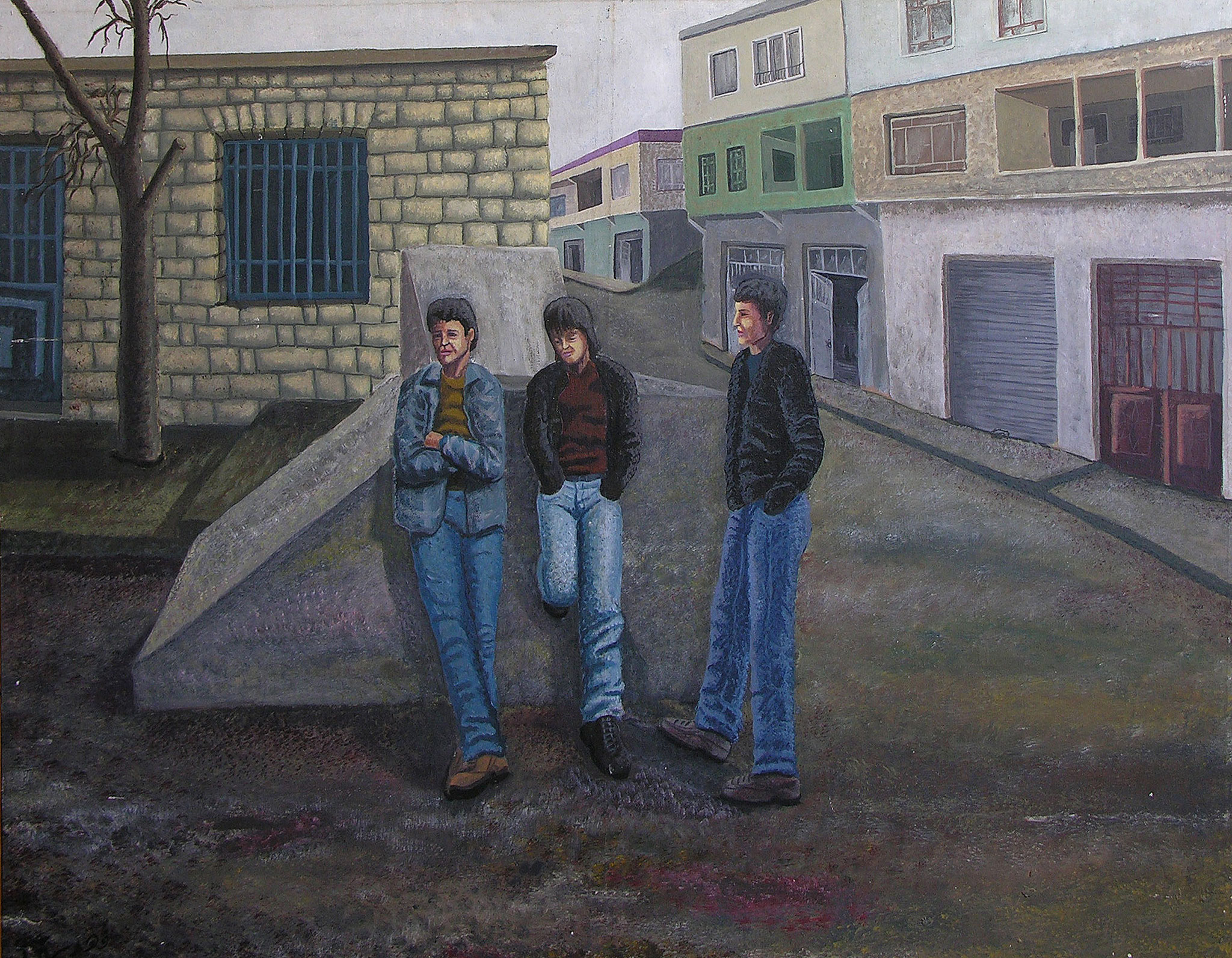 Square, Acrylic on canvas, 80 x 120 cm,  1998