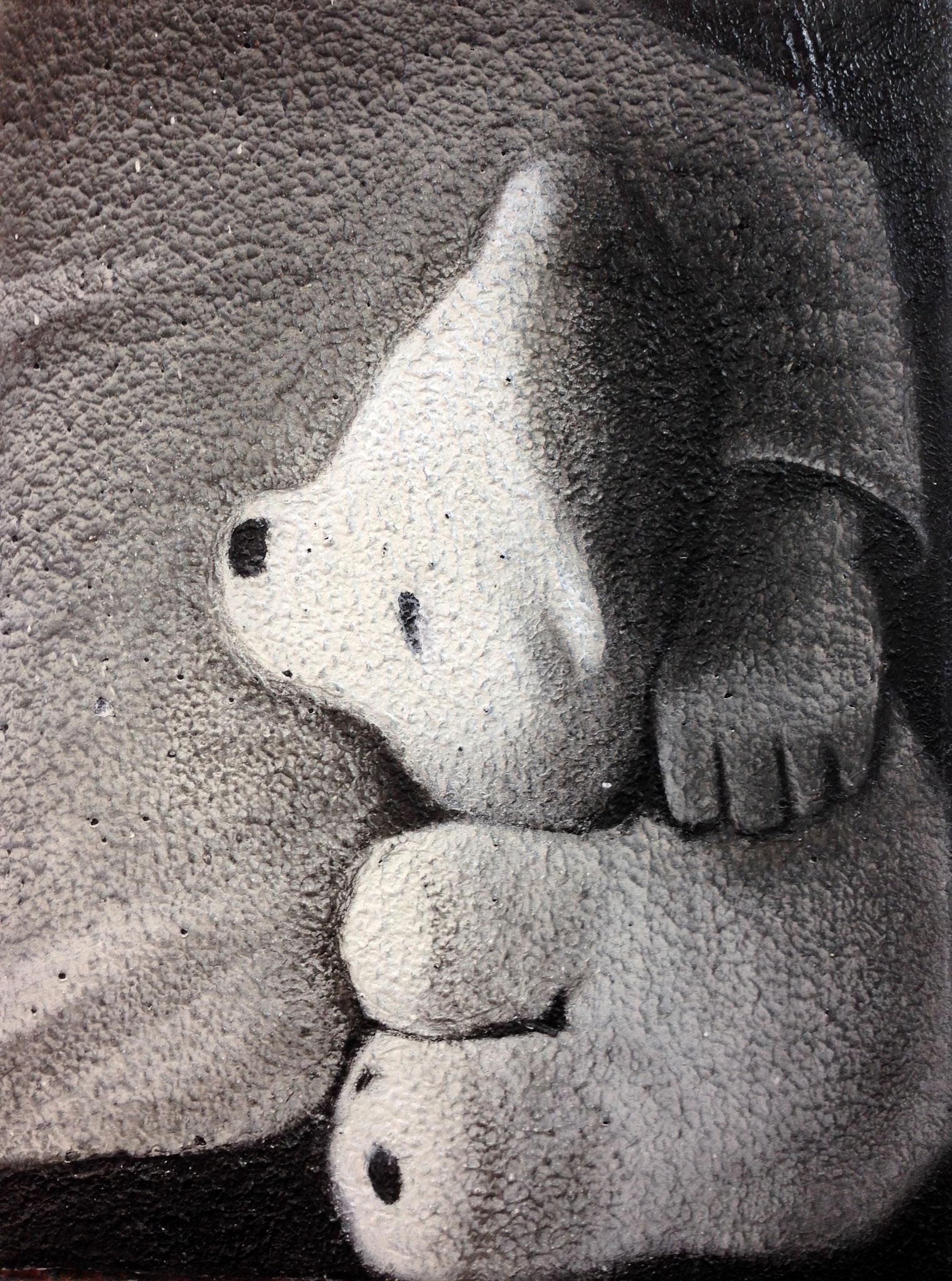 Teddy, 30 x 40 cm, Mixed media, 2017