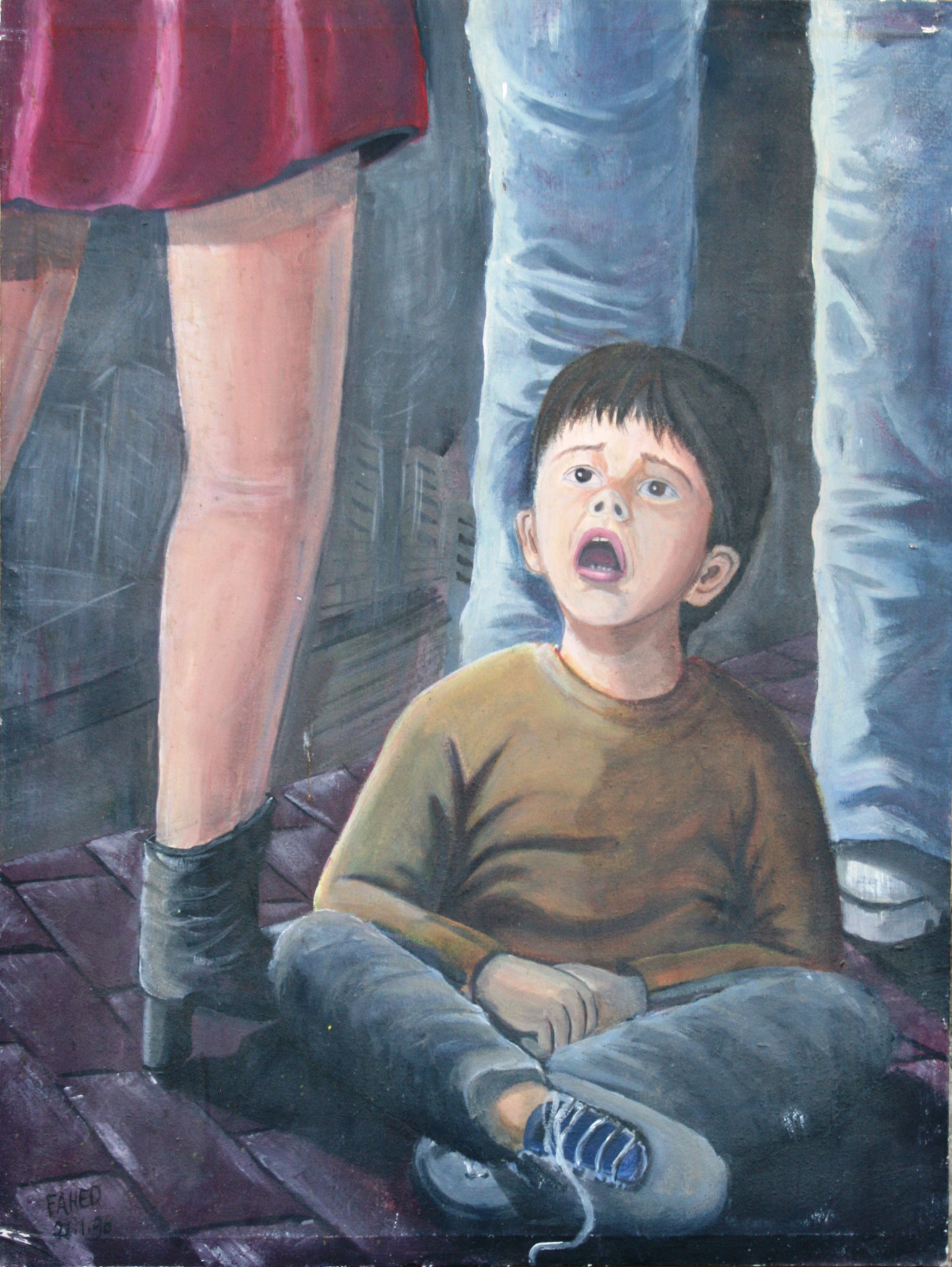Untitled, Acrylic on canvas, 40 x 60 cm, 1997
