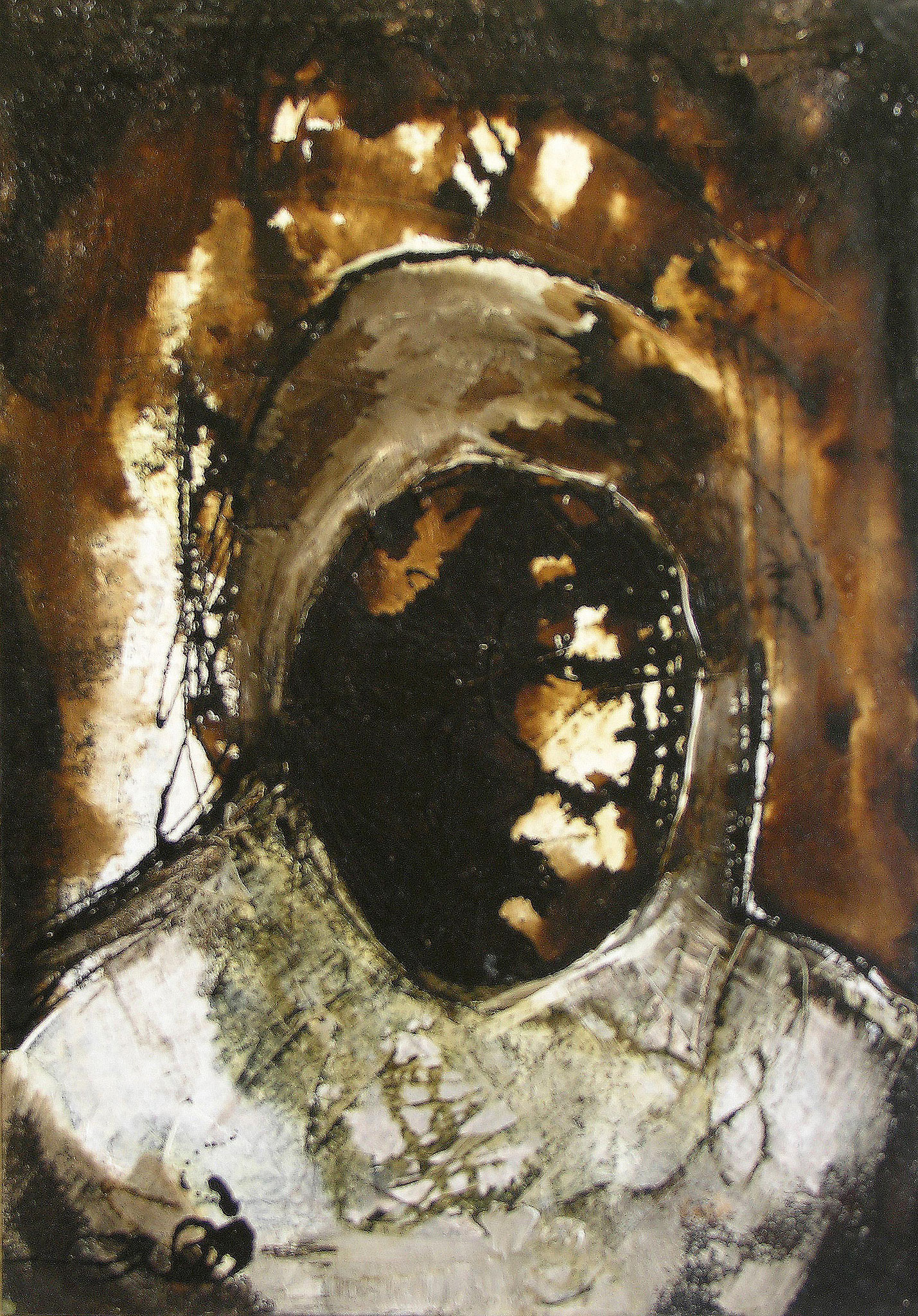 Woman, Acrylic and tar on canvas, 70 x 100 cm, 2000