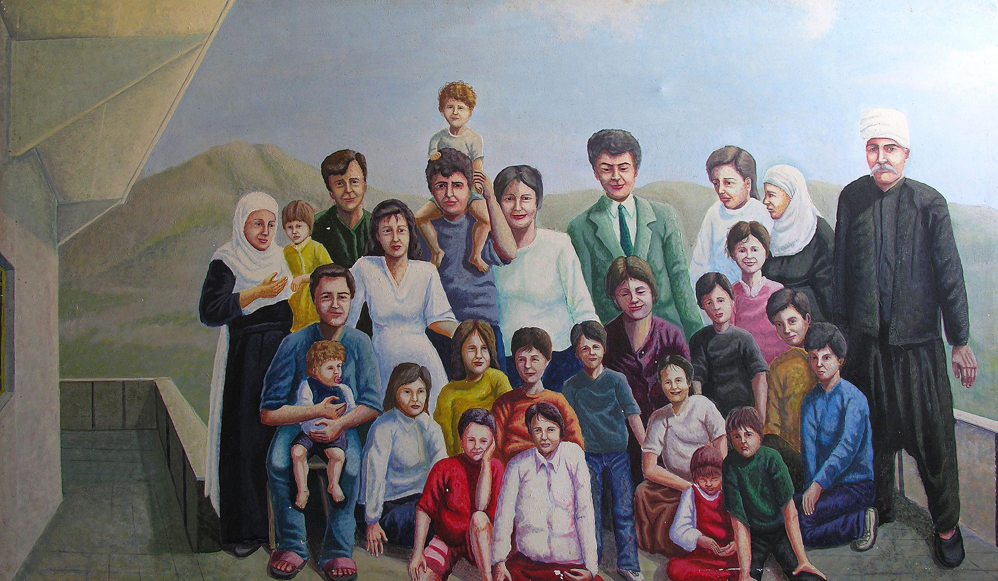 Family , Acrylic on canvas, 130 x 180 cm, 1998