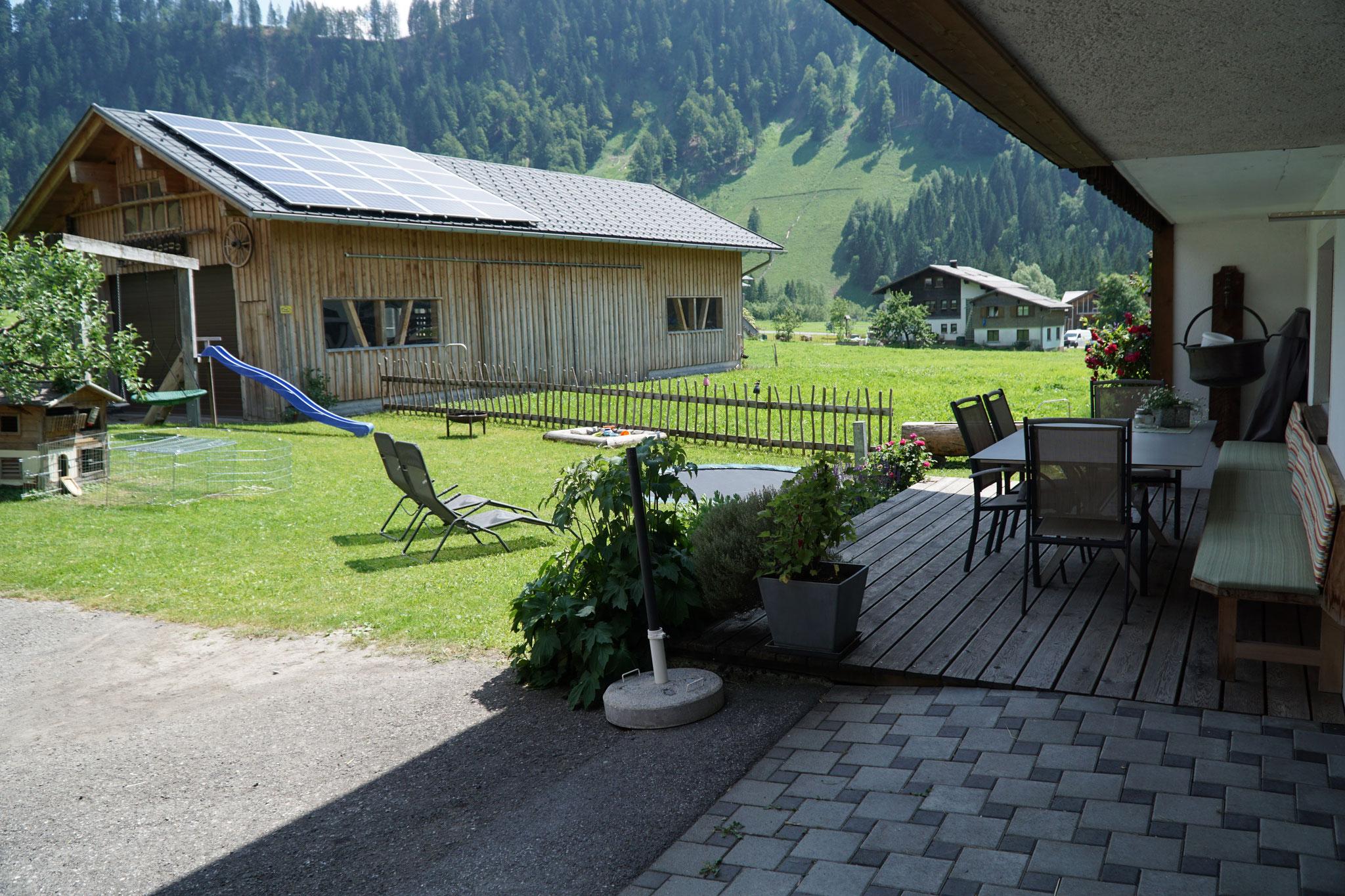 Ihre Ferienwohnung mit Terrasse und Garten in Schoppernau.