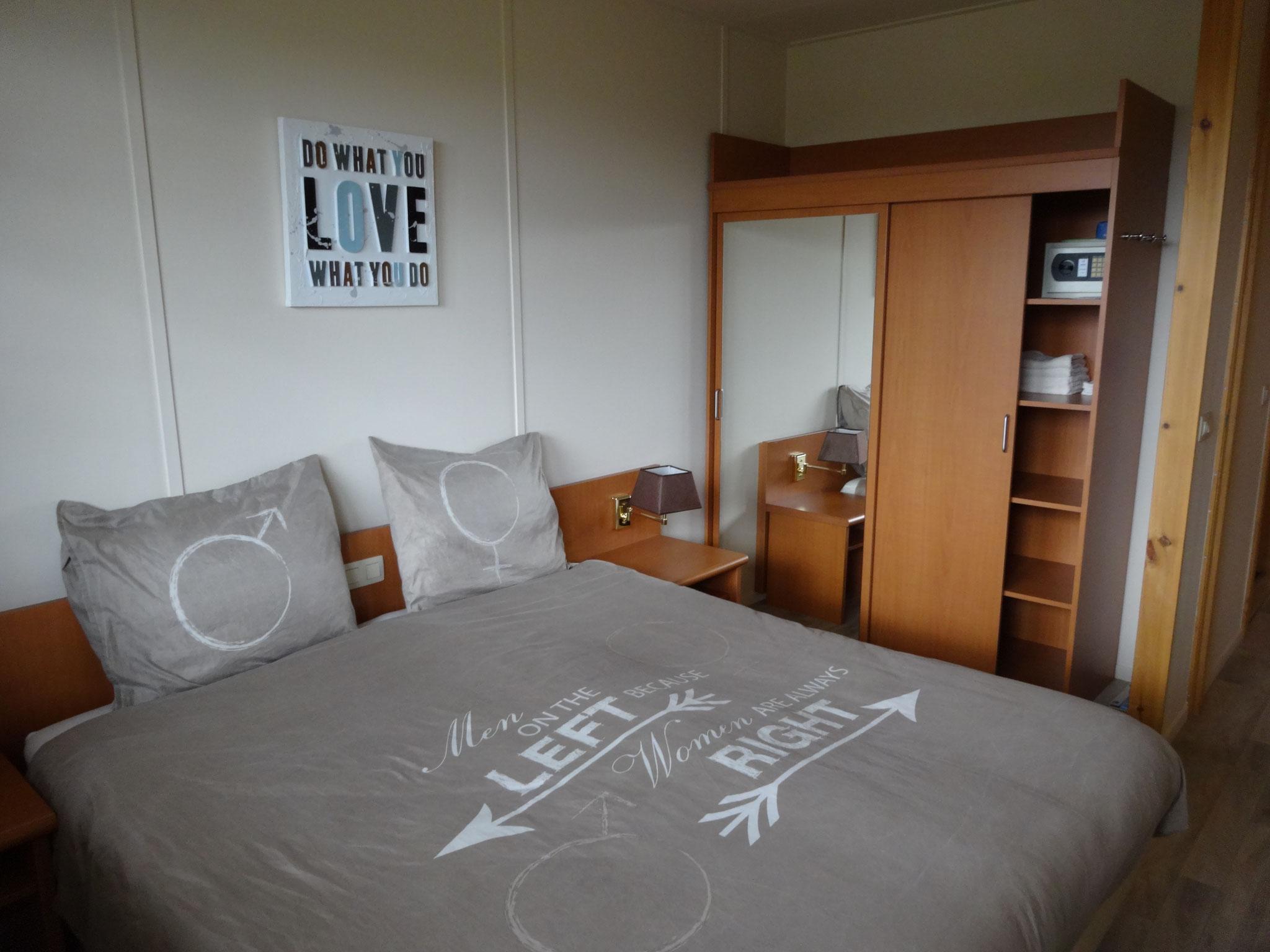De master-bedroom voor 2 personen
